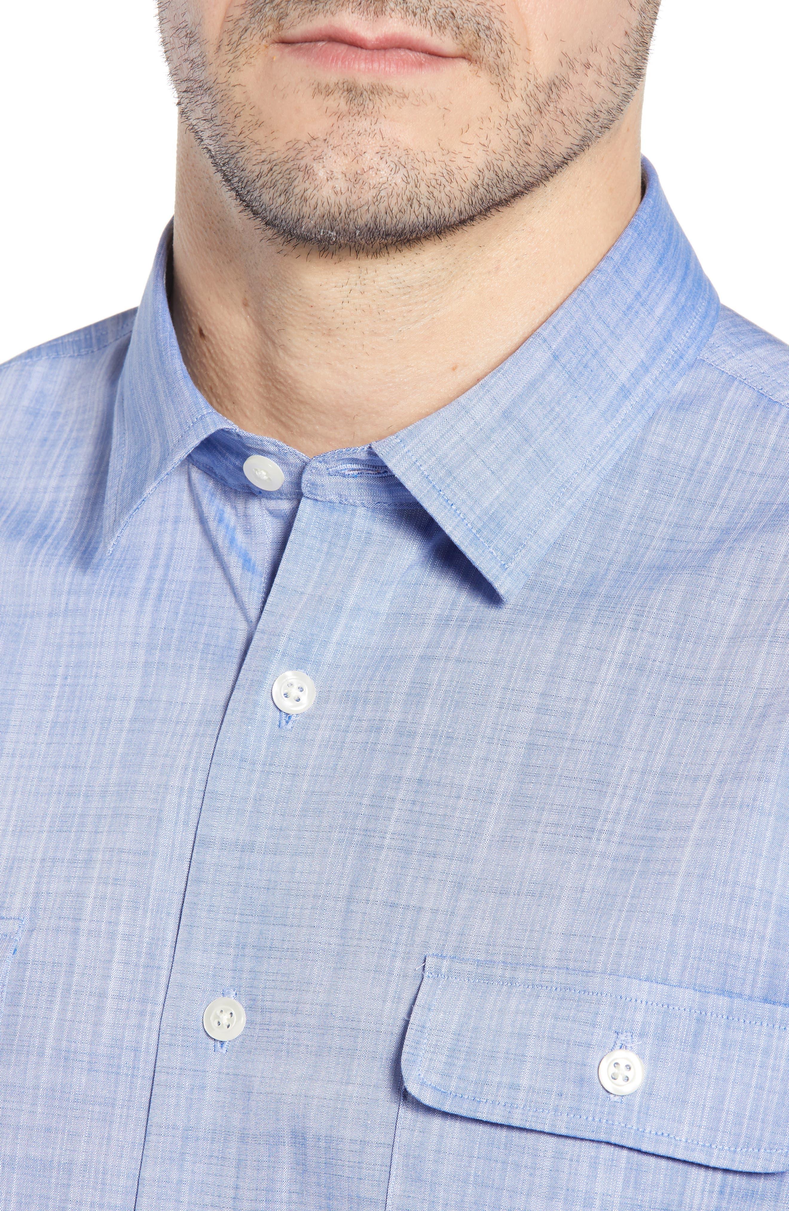 Hutton Classic Fit Shirt,                             Alternate thumbnail 2, color,                             Deep Water