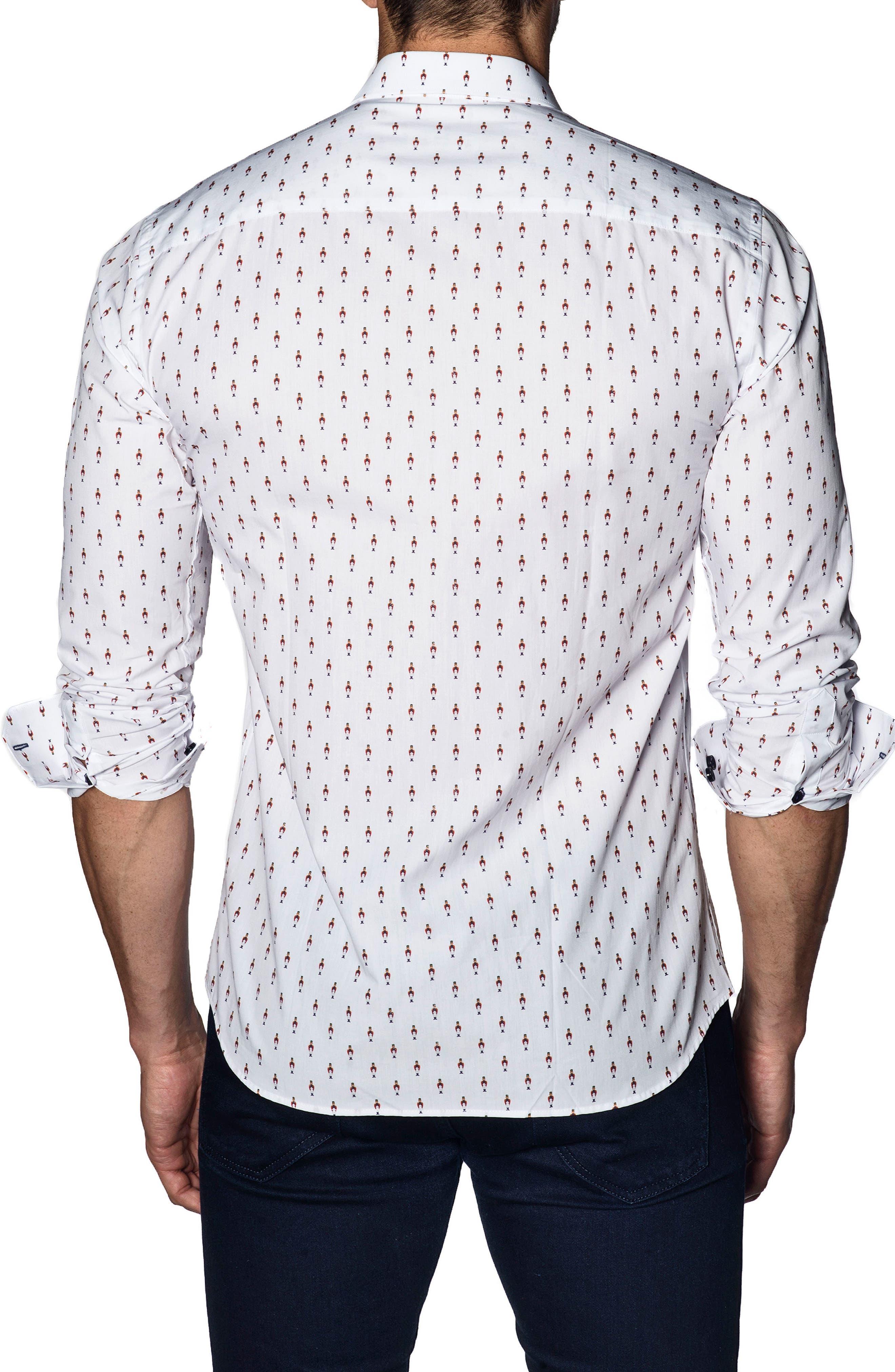Trim Fit Sport Shirt,                             Alternate thumbnail 2, color,                             White Soldier