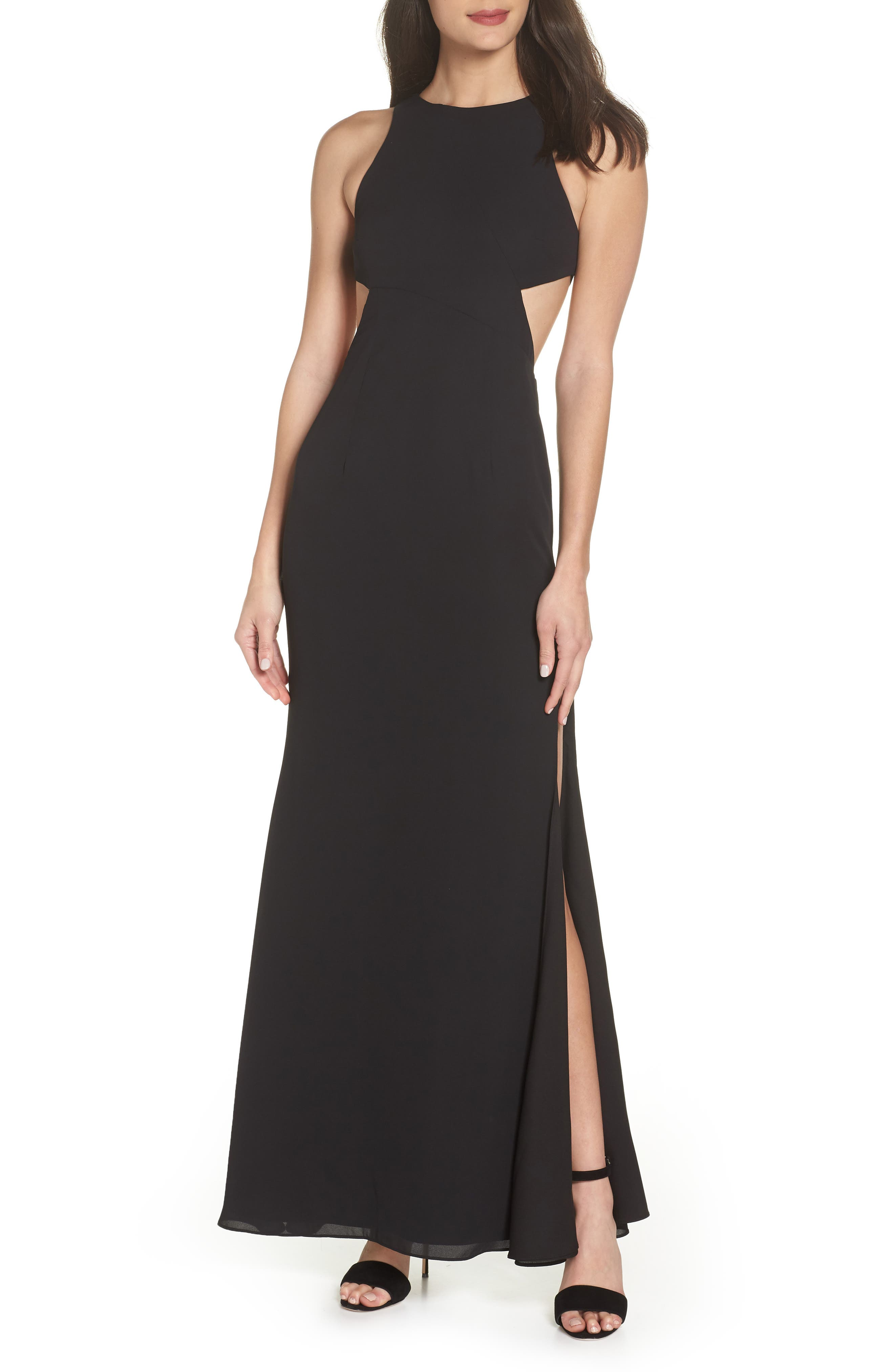 Fame & Partners The Midheaven Gown,                         Main,                         color, Black