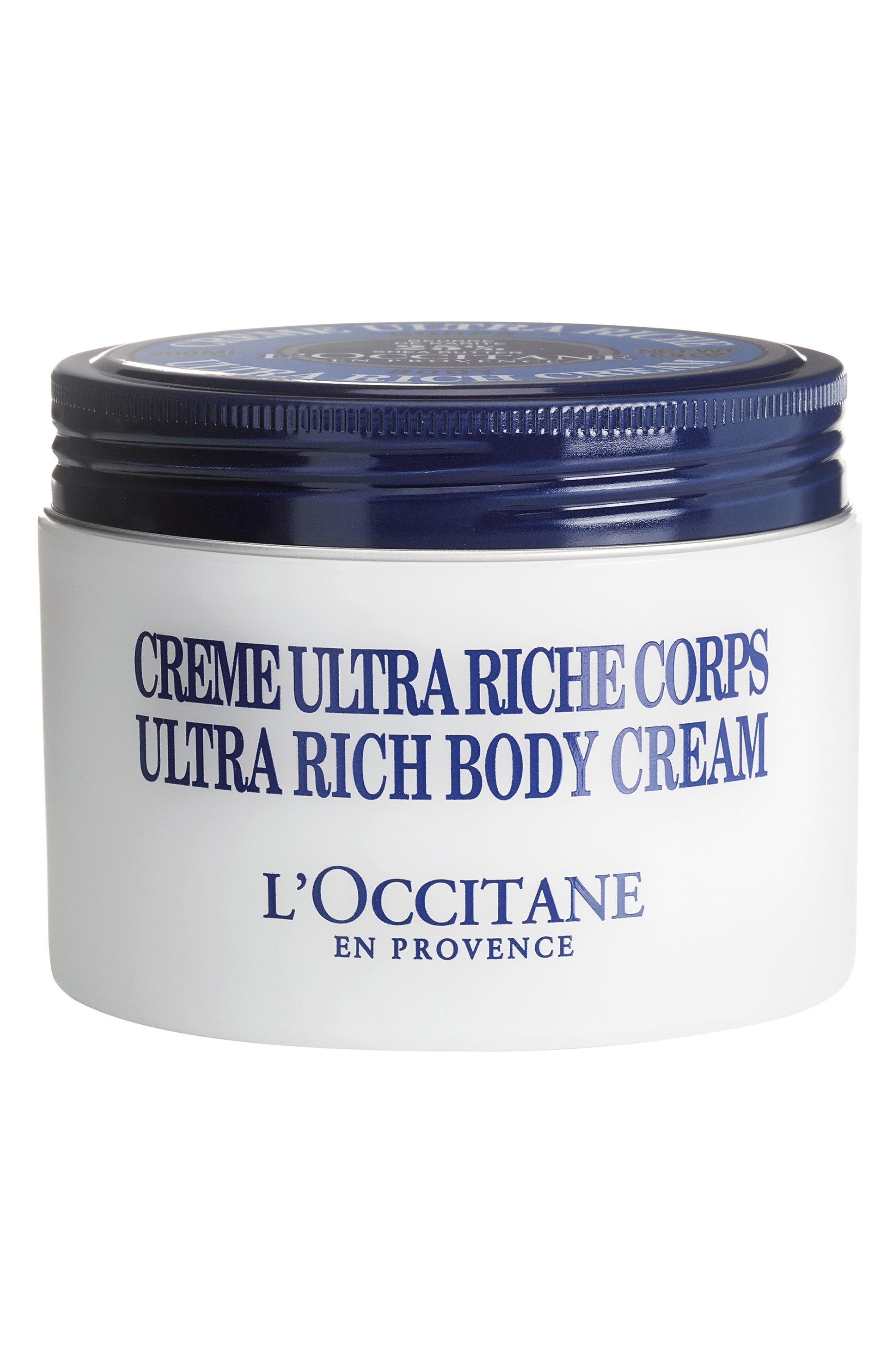 Shea Butter Ultra-Rich Body Cream,                             Main thumbnail 1, color,                             No Color