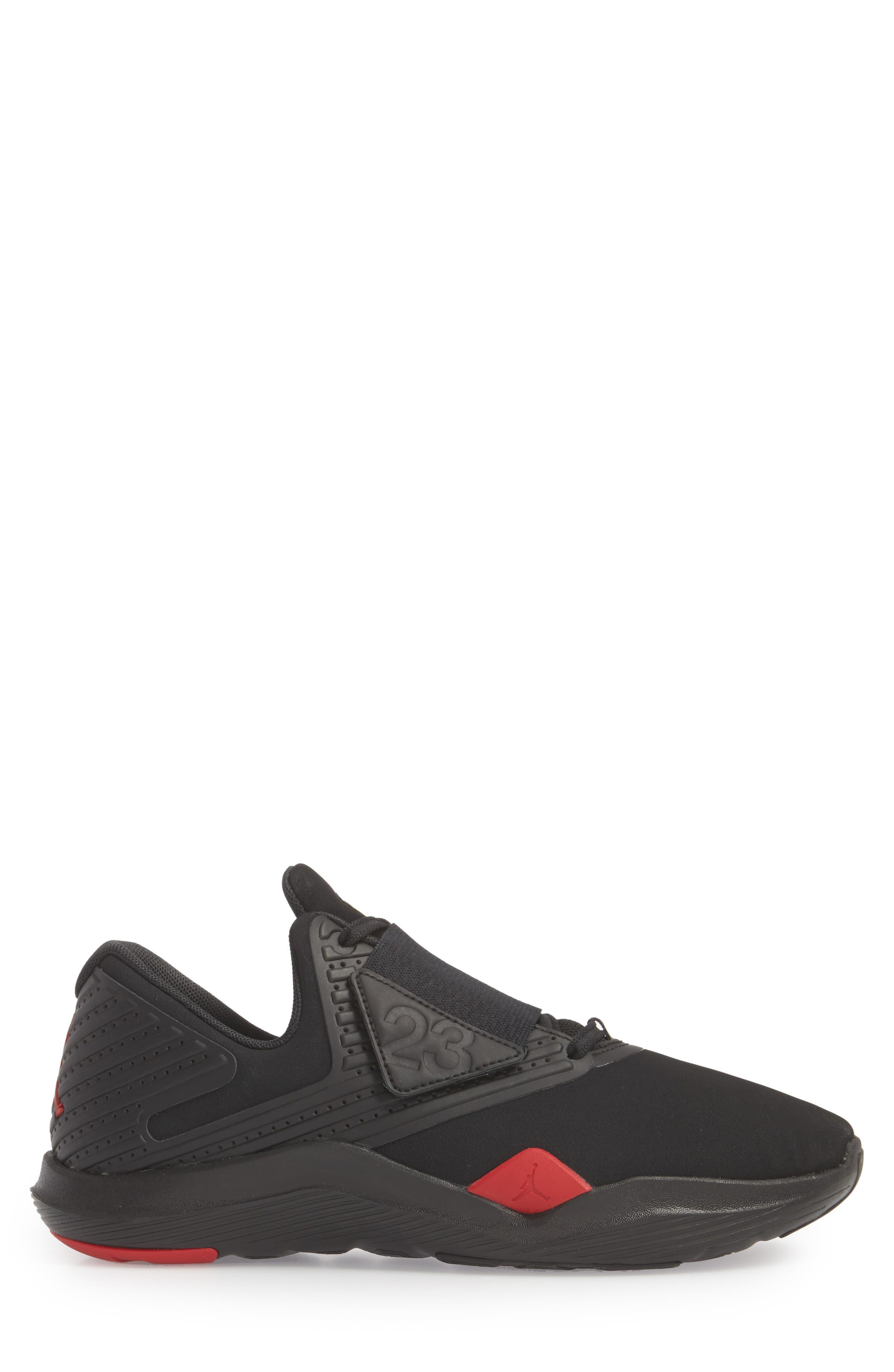 Air Jordan Relentless Training Sneaker,                             Alternate thumbnail 3, color,                             Black/ Varsity Red/ Dandelion