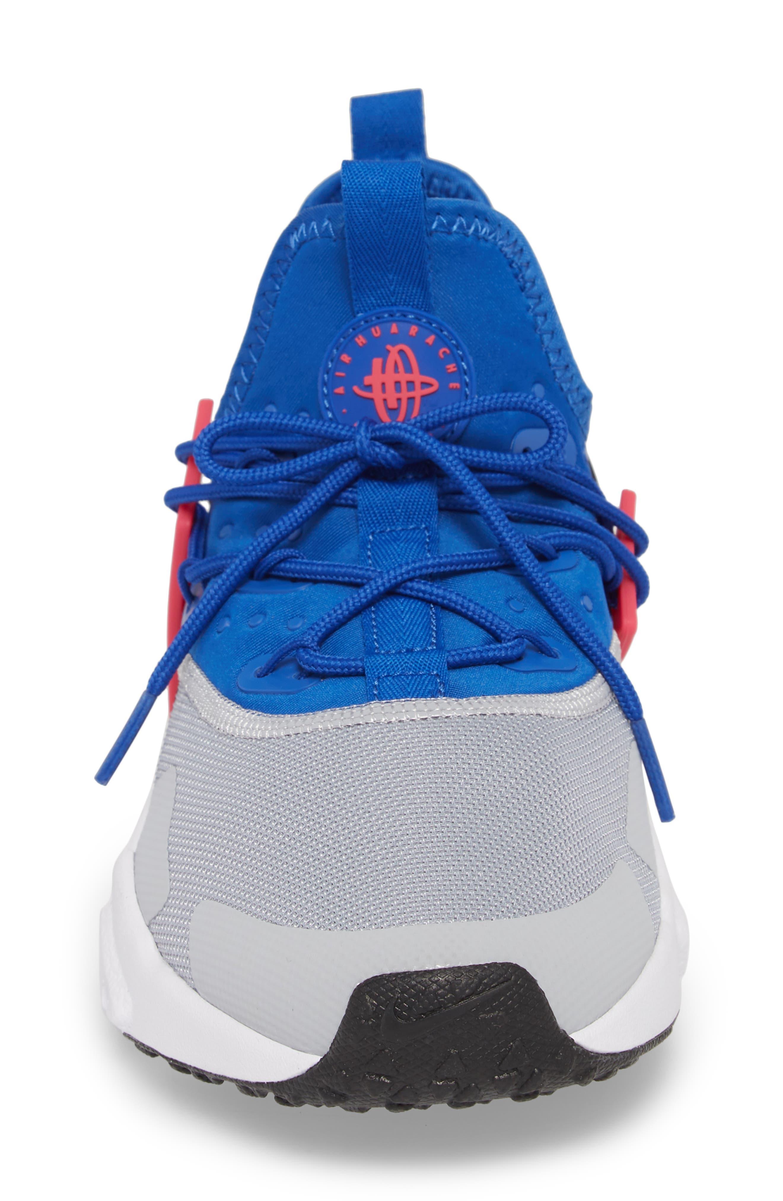 Air Huarache Drift Sneaker,                             Alternate thumbnail 4, color,                             Game Royal/ White/ Wolf Grey