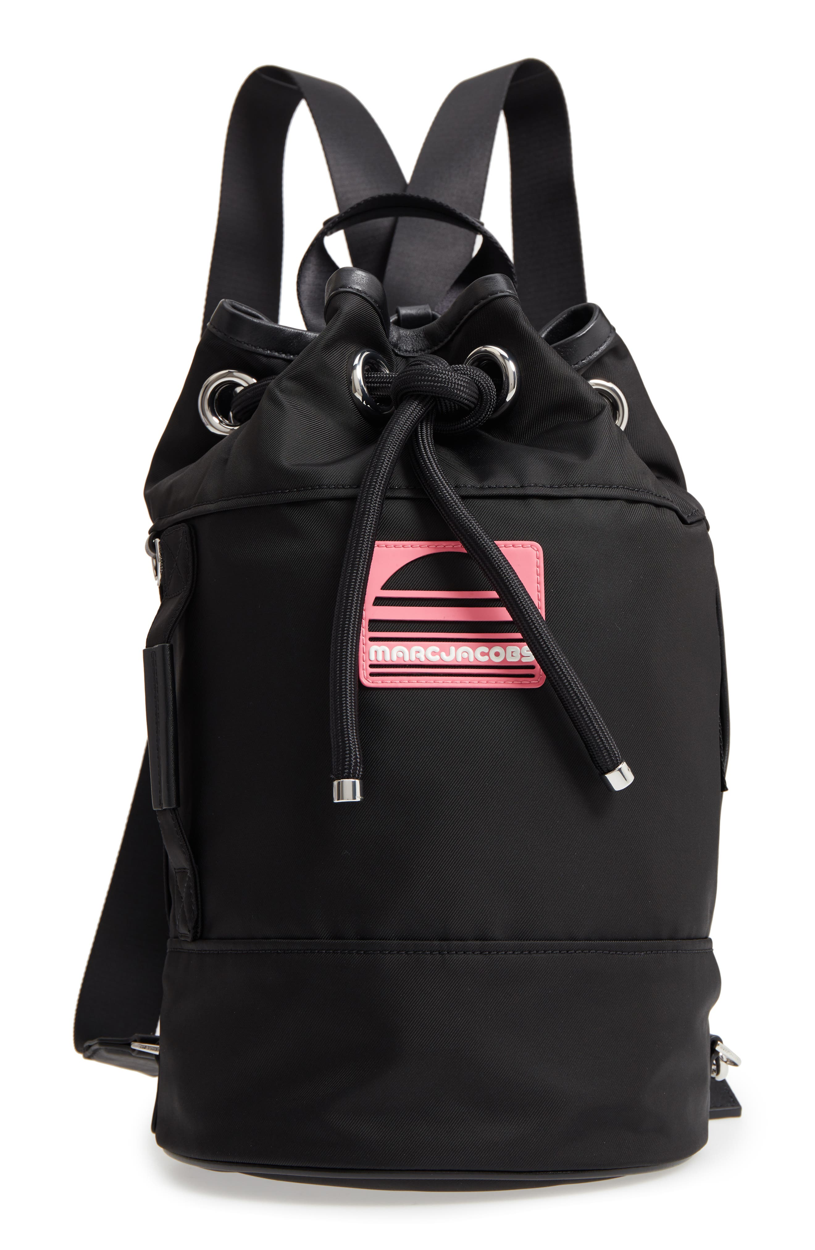 Nylon Sport Sling Bag,                         Main,                         color, Black
