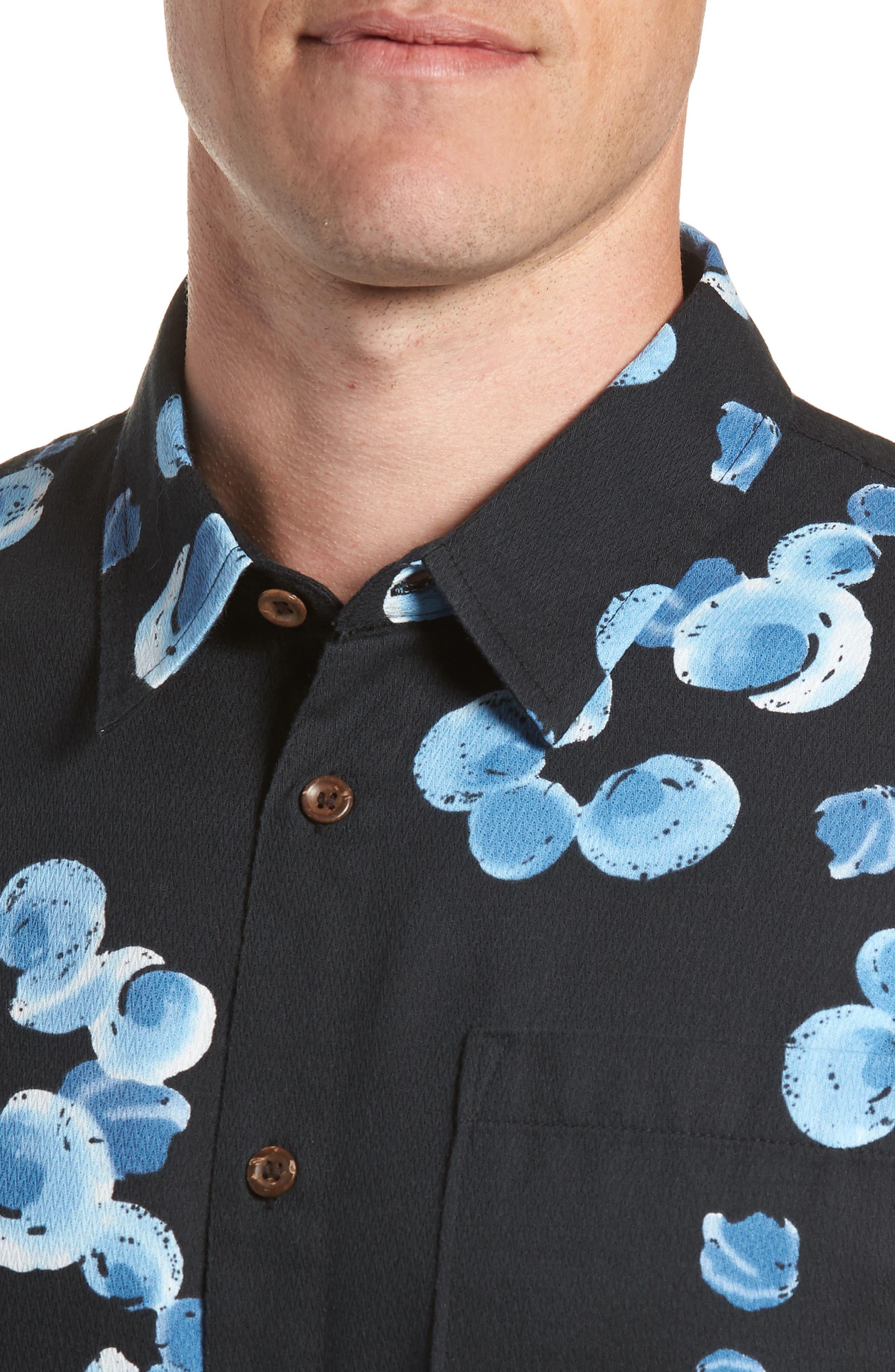 Plumes Dune Regular Fit Sport Shirt,                             Alternate thumbnail 2, color,                             Black