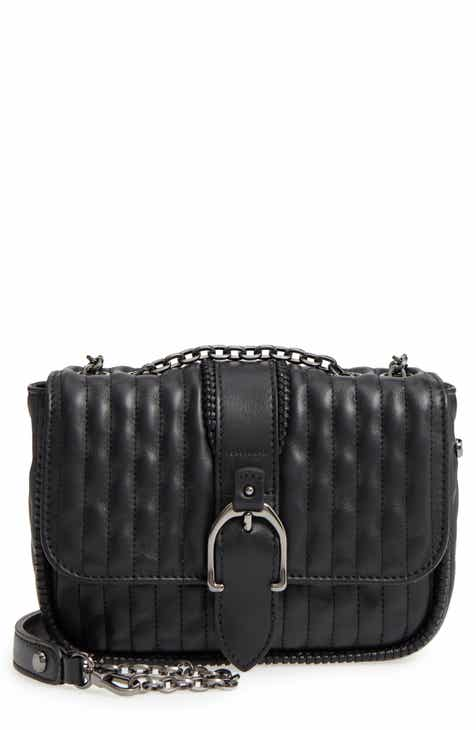 Longchamp E Quilted Leather Crossbody Bag
