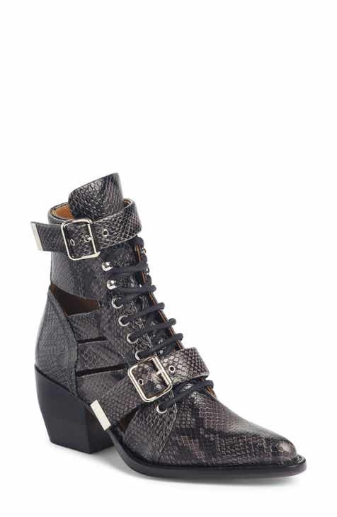 Chloé Rylee Caged Pointy Toe Boot (Women) 77ff0efdb23