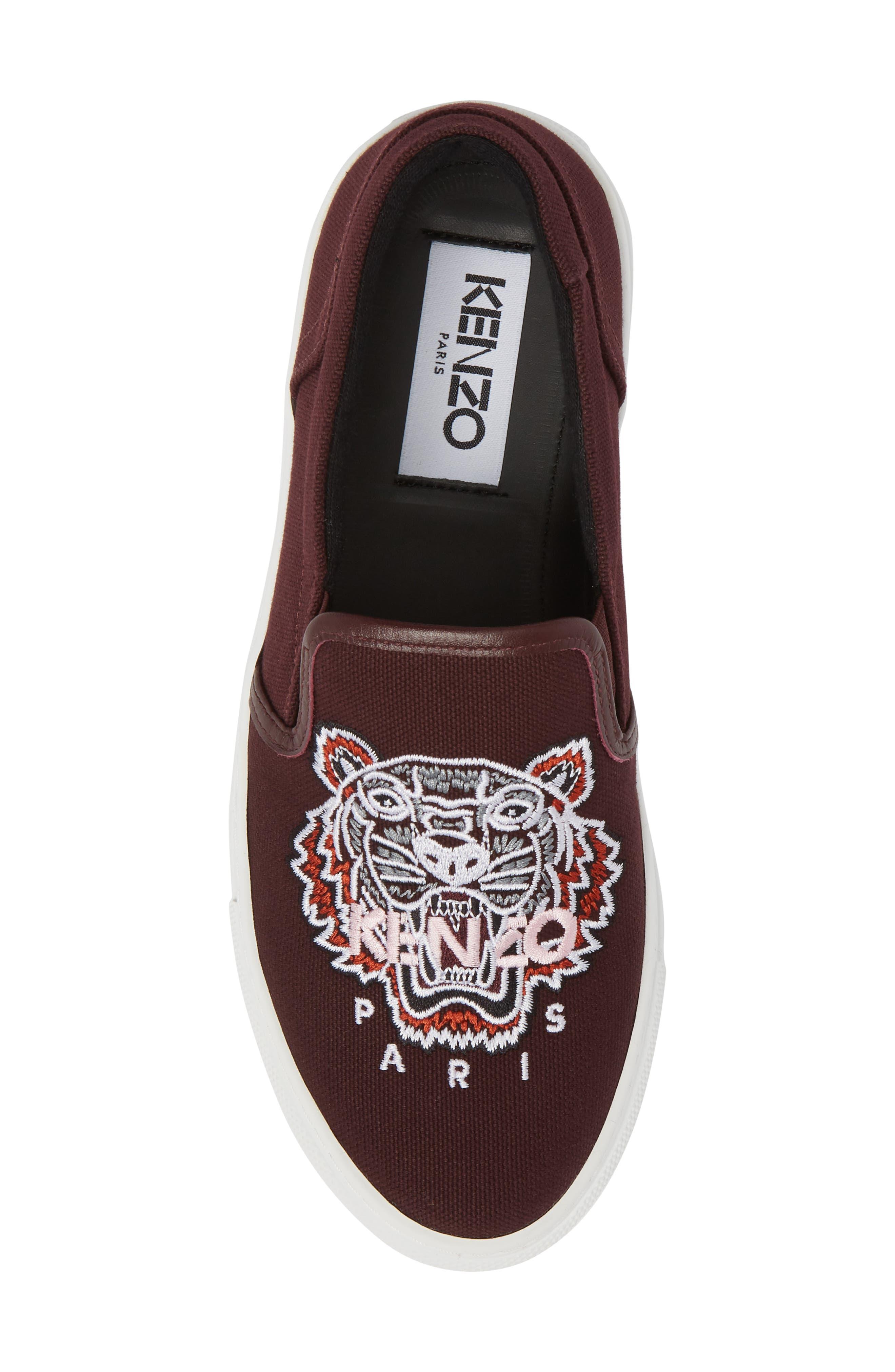 K Skate Embroidered Slip-On Sneaker,                             Alternate thumbnail 6, color,                             Bordeaux