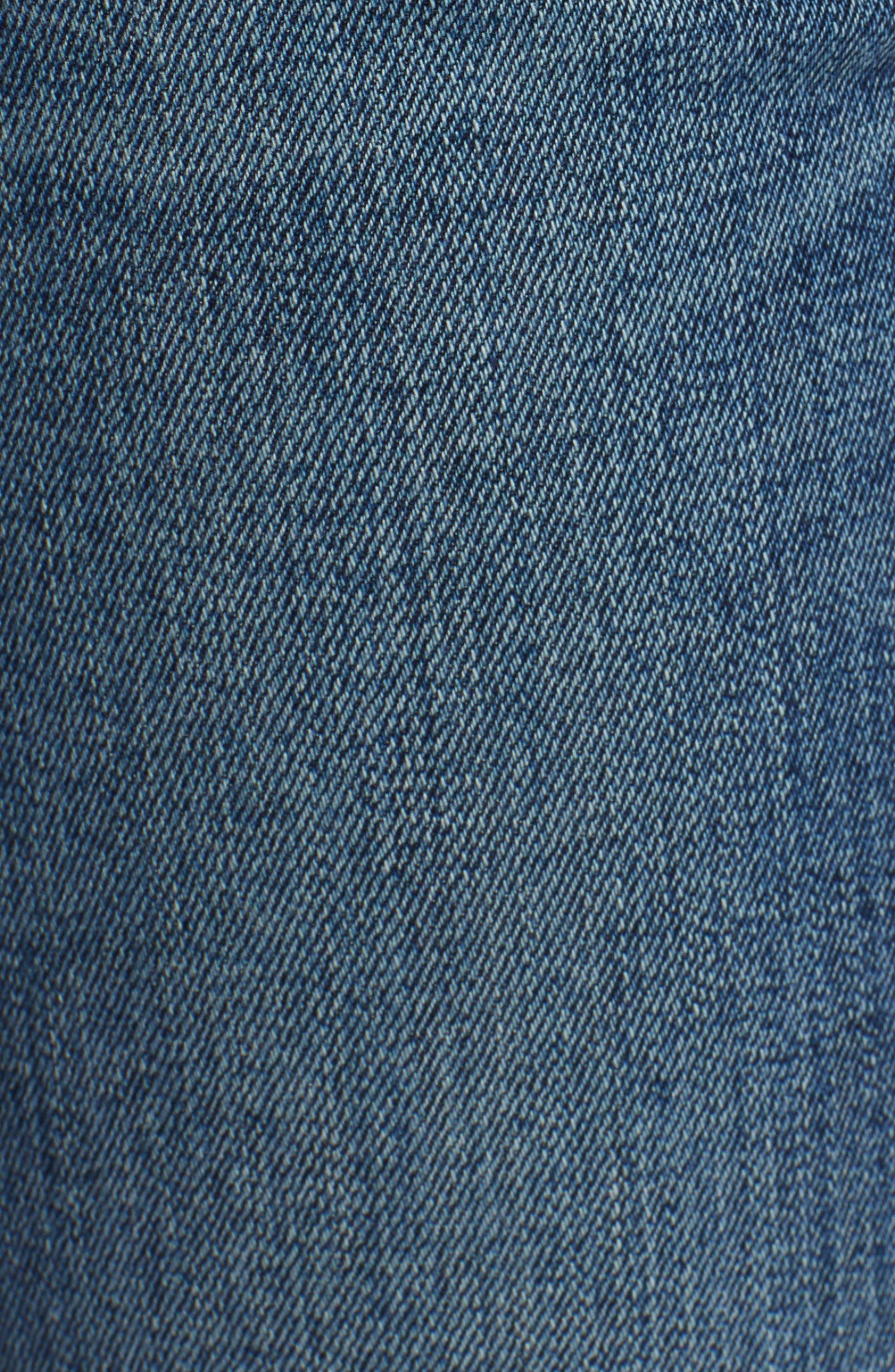 Tally Unfamed Hem Skinny Jeans,                             Alternate thumbnail 3, color,                             Side Bar W/ Raw Hem