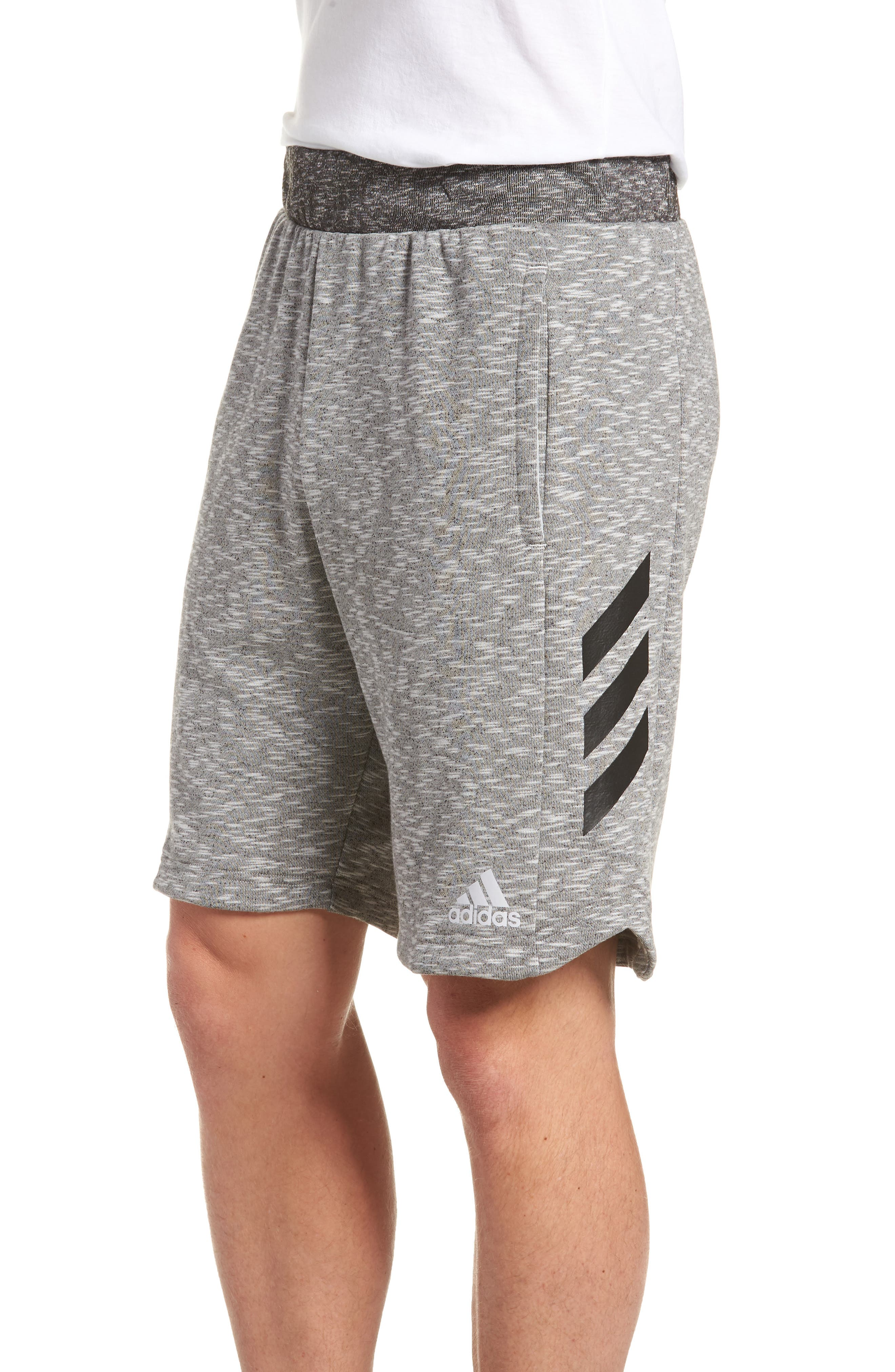 Pick Up Knit Shorts,                             Alternate thumbnail 4, color,                             Lgh Solid Grey