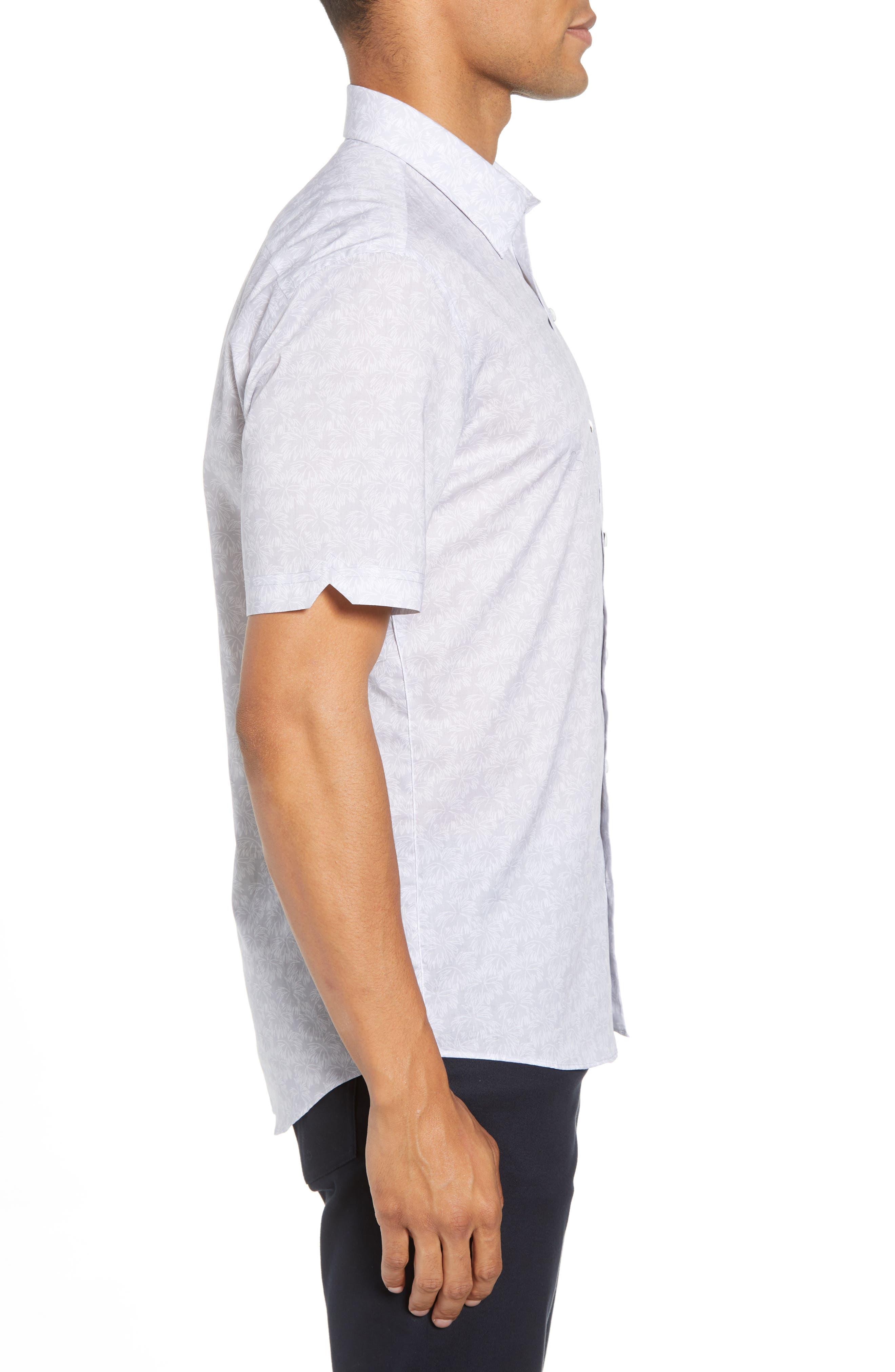 Slenske Trim Fit Sport Shirt,                             Alternate thumbnail 4, color,                             Light Grey