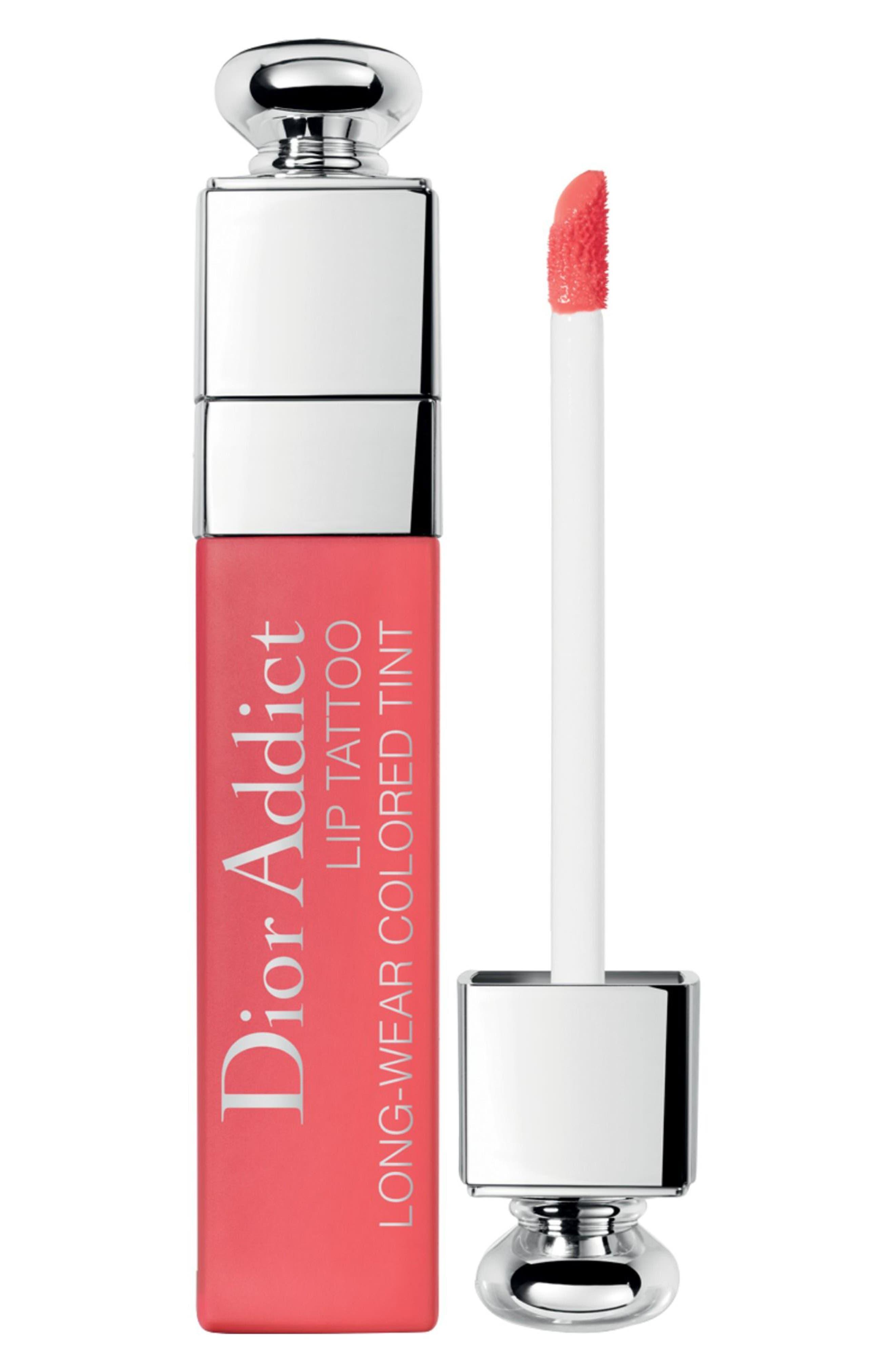 Addict Lip Tattoo Long-Wearing Color Tint,                         Main,                         color, 451 Natural Coral