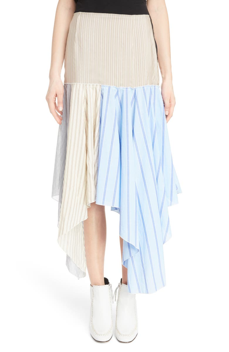 Hanky Hem Silk & Cotton Skirt