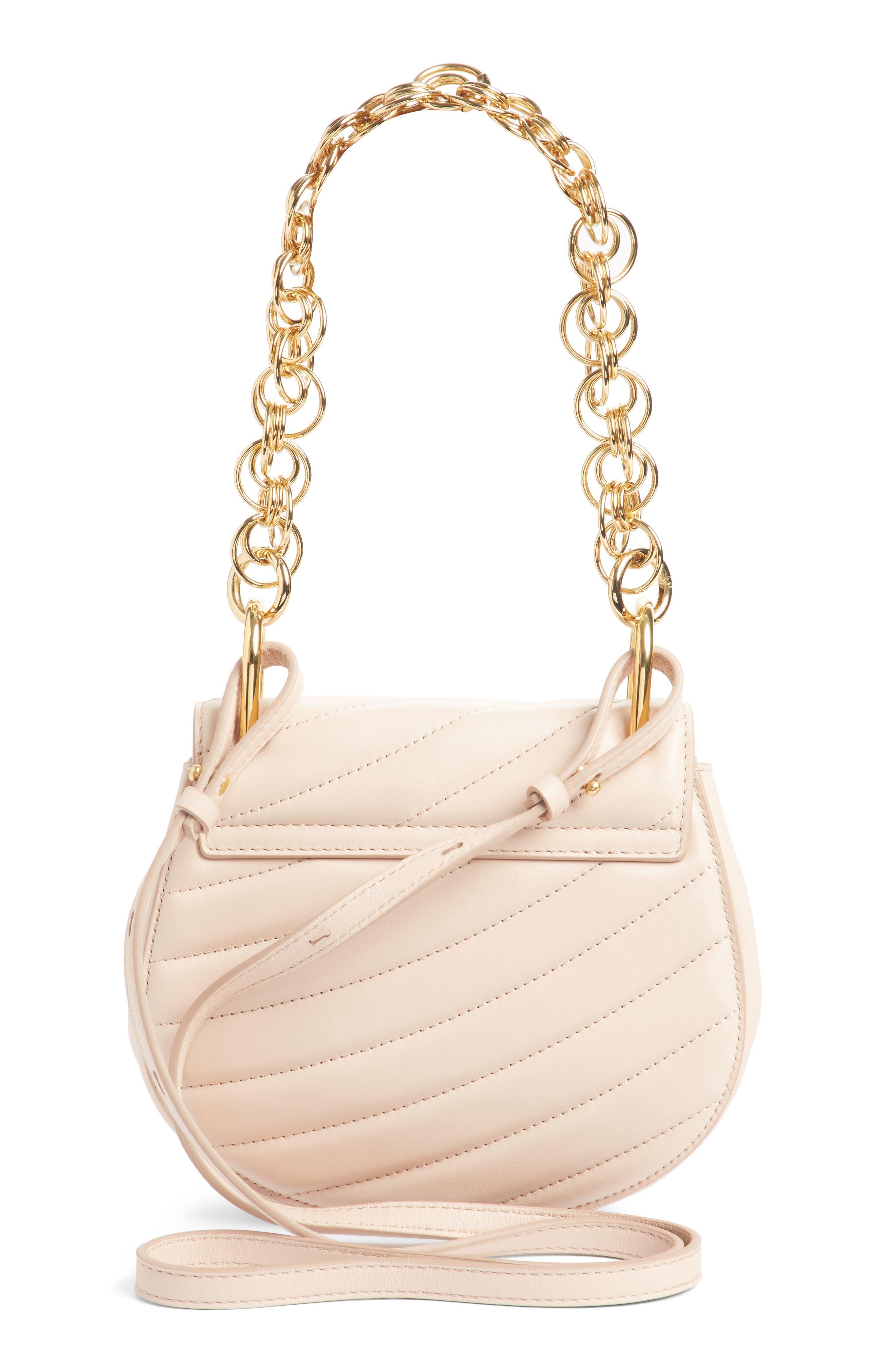 Mini Drew Bijoux Leather Shoulder Bag,                             Alternate thumbnail 2, color,                             Cement Pink