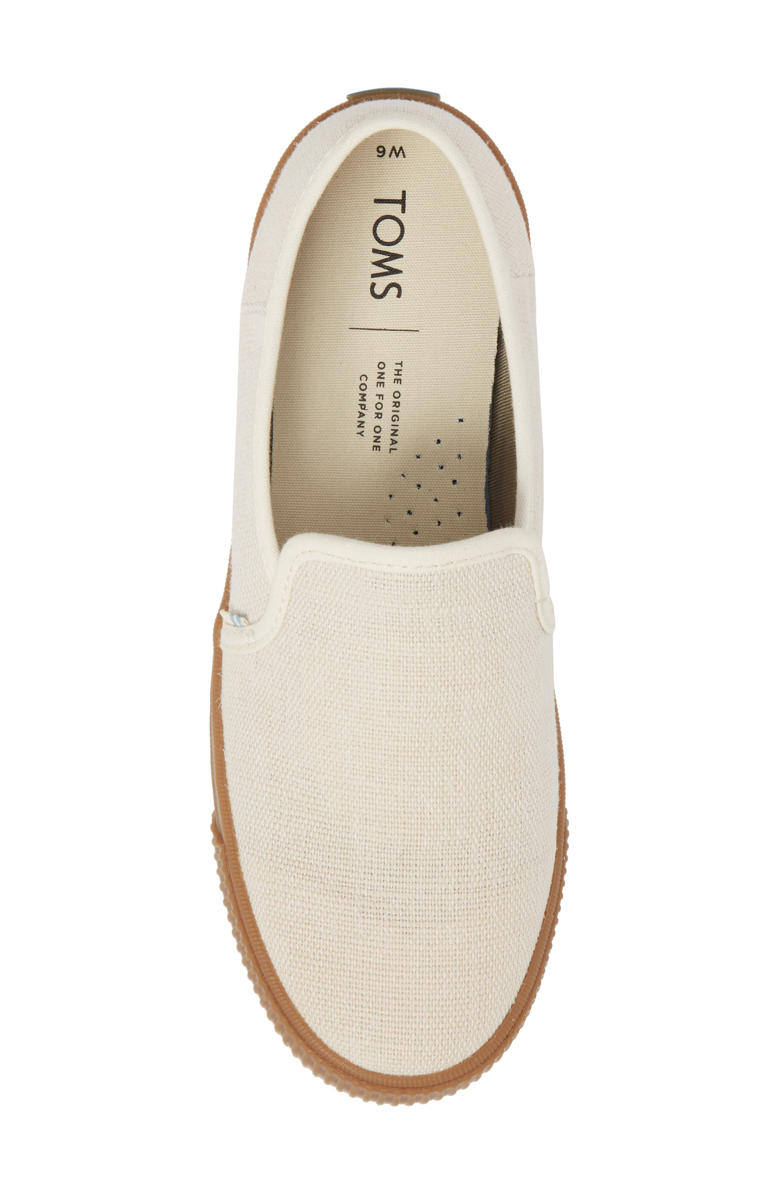 Clemente Slip-On,                             Alternate thumbnail 5, color,                             Birch Heritage Canvas