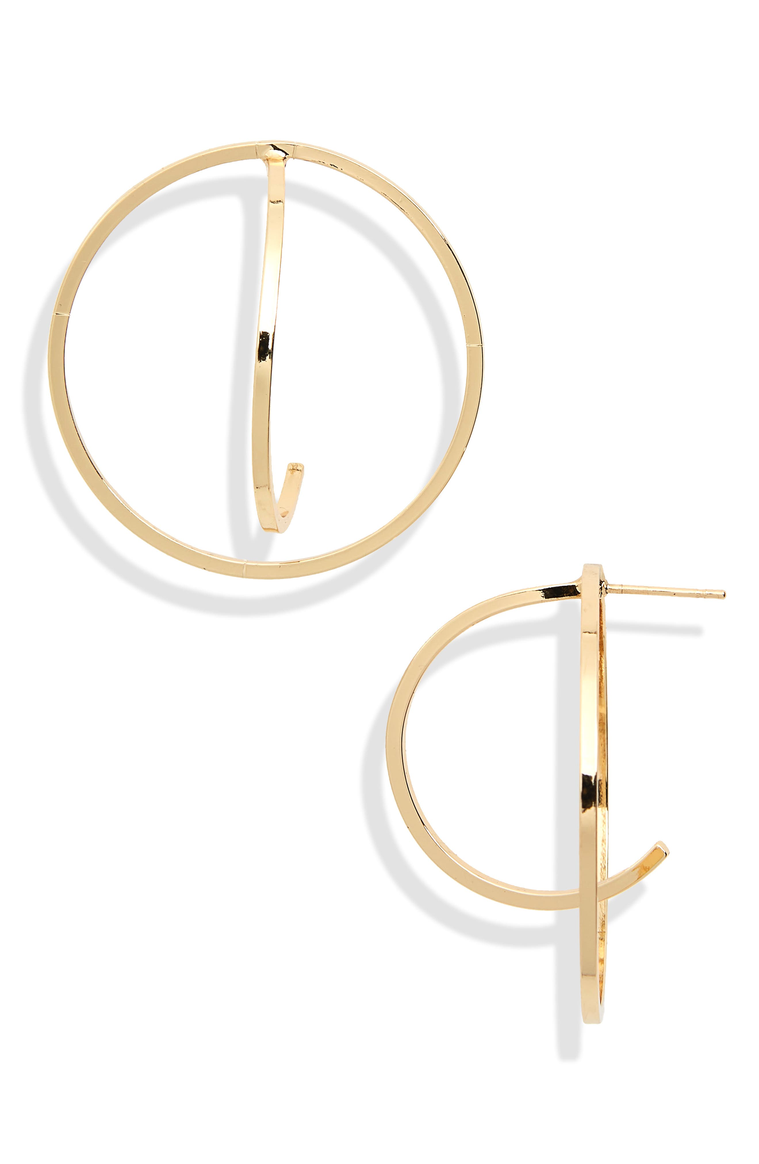 Hoop Earrings,                             Main thumbnail 1, color,                             Yellow Gold