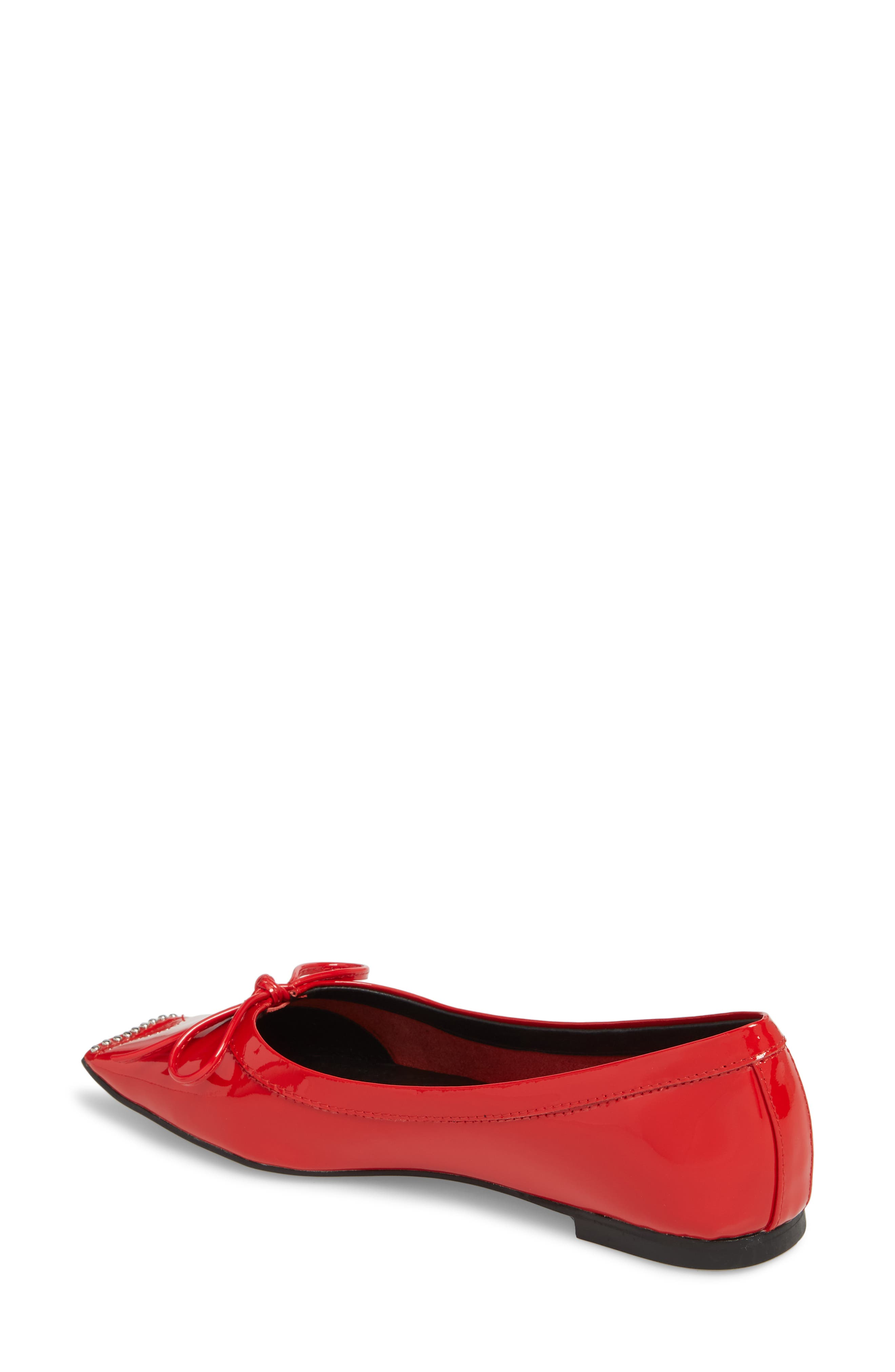 Achira Flat,                             Alternate thumbnail 2, color,                             Red Patent Leather