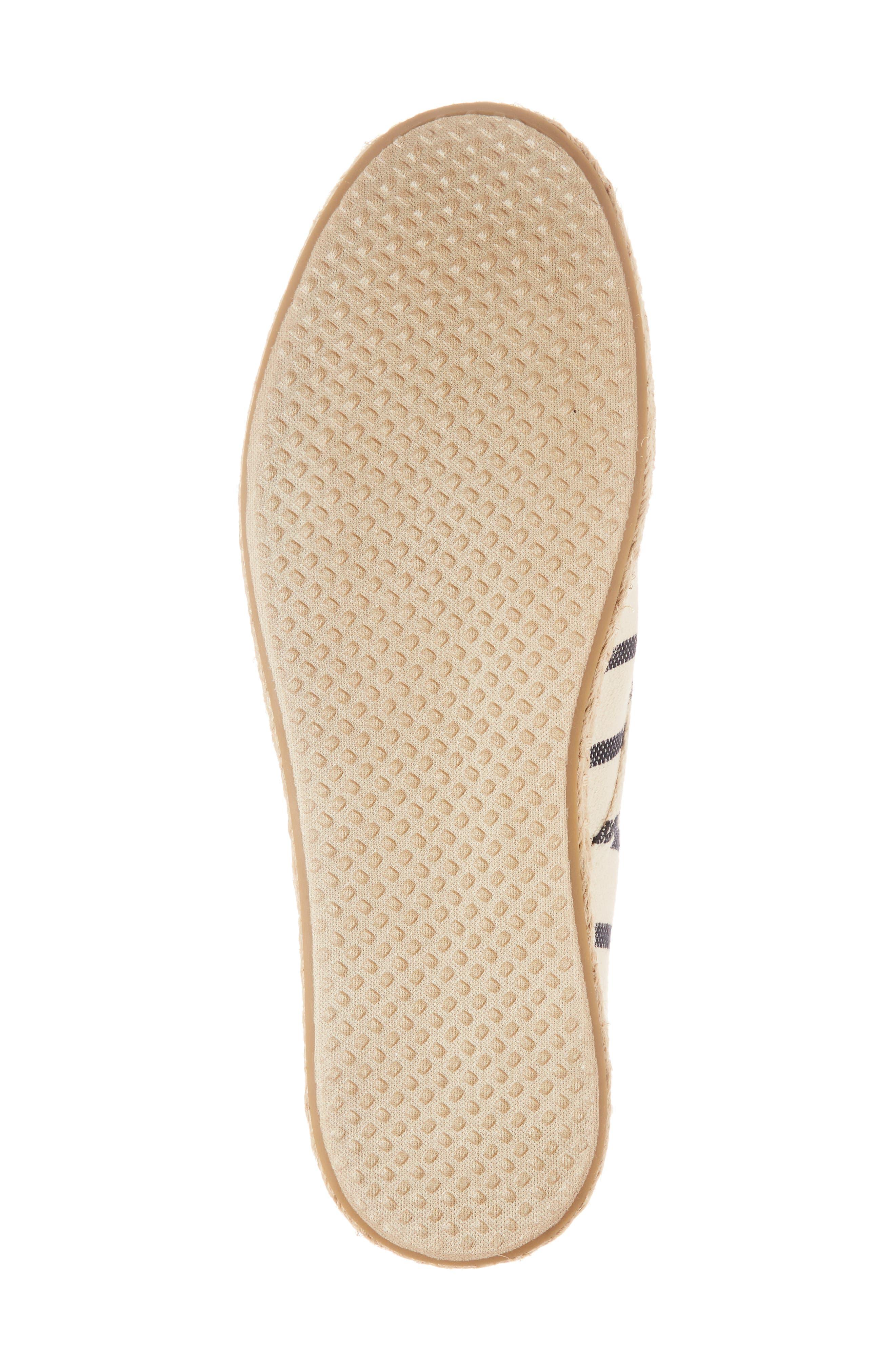 Cordones Sneaker,                             Alternate thumbnail 6, color,                             Natural Stripe Woven