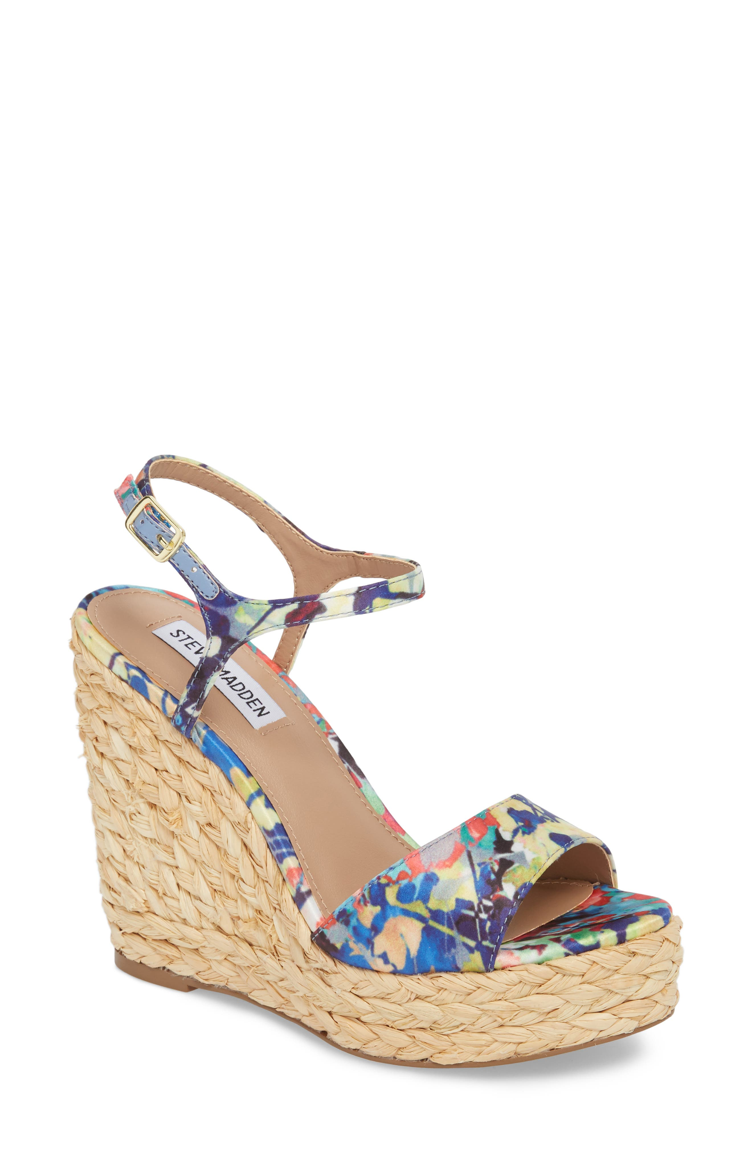 Tokin Espadrille Wedge Sandal,                             Main thumbnail 1, color,                             Floral Multi