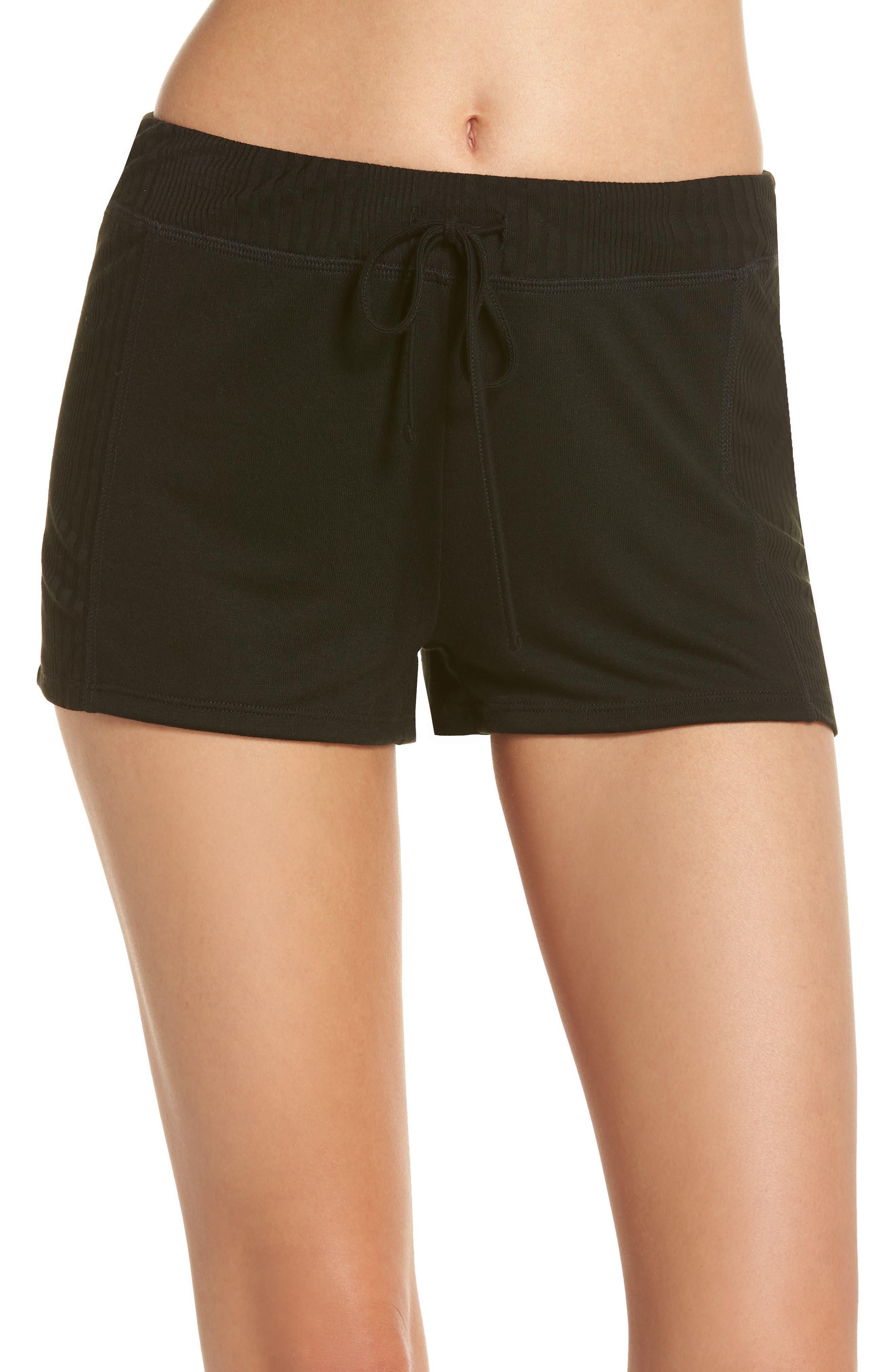 Pajama Shorts,                         Main,                         color, Black