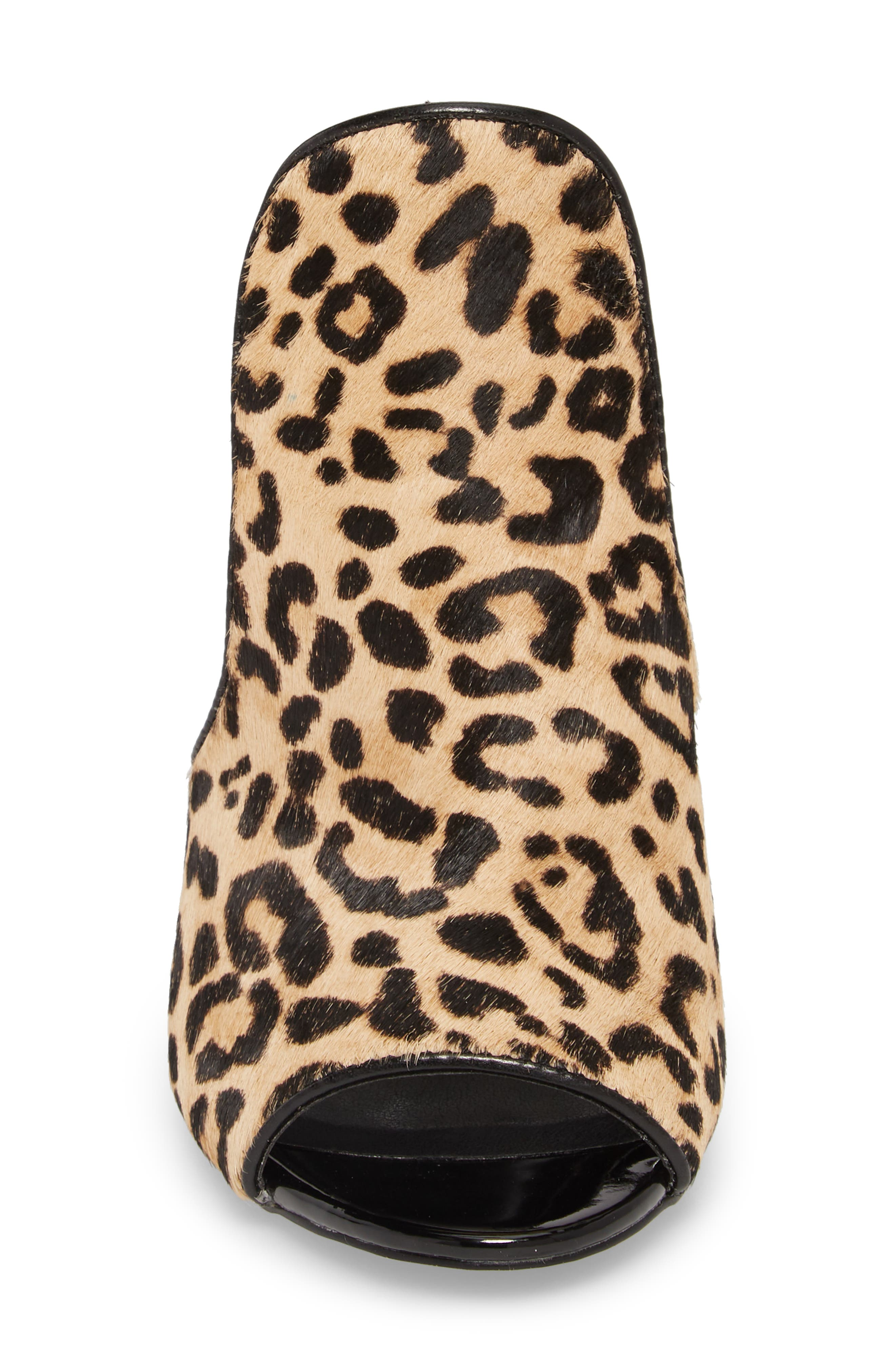 Sinful Genuine Calf Hair Mule,                             Alternate thumbnail 3, color,                             Leopard