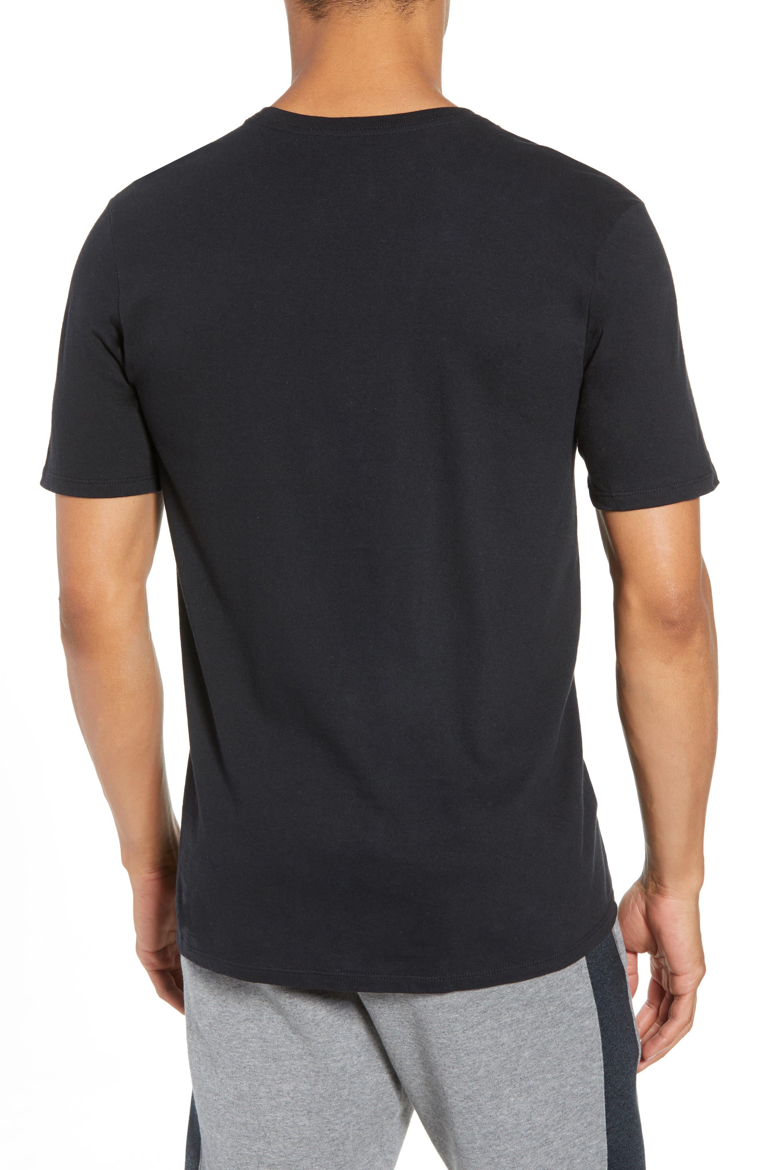 Sportswear More Money T-Shirt,                             Alternate thumbnail 2, color,                             Black/ Metallic Silver