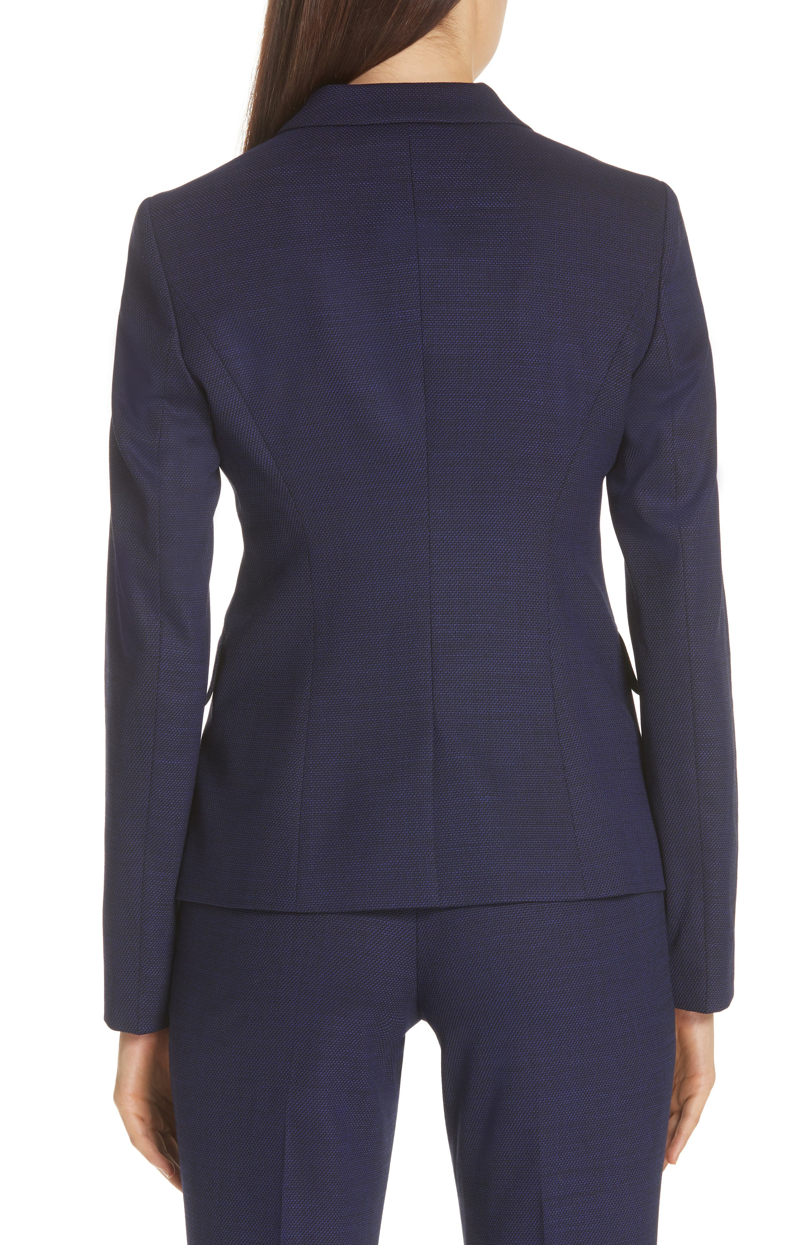 Jibalena Mini Glencheck Suit Jacket,                             Alternate thumbnail 2, color,                             Deep Lilac Fantasy