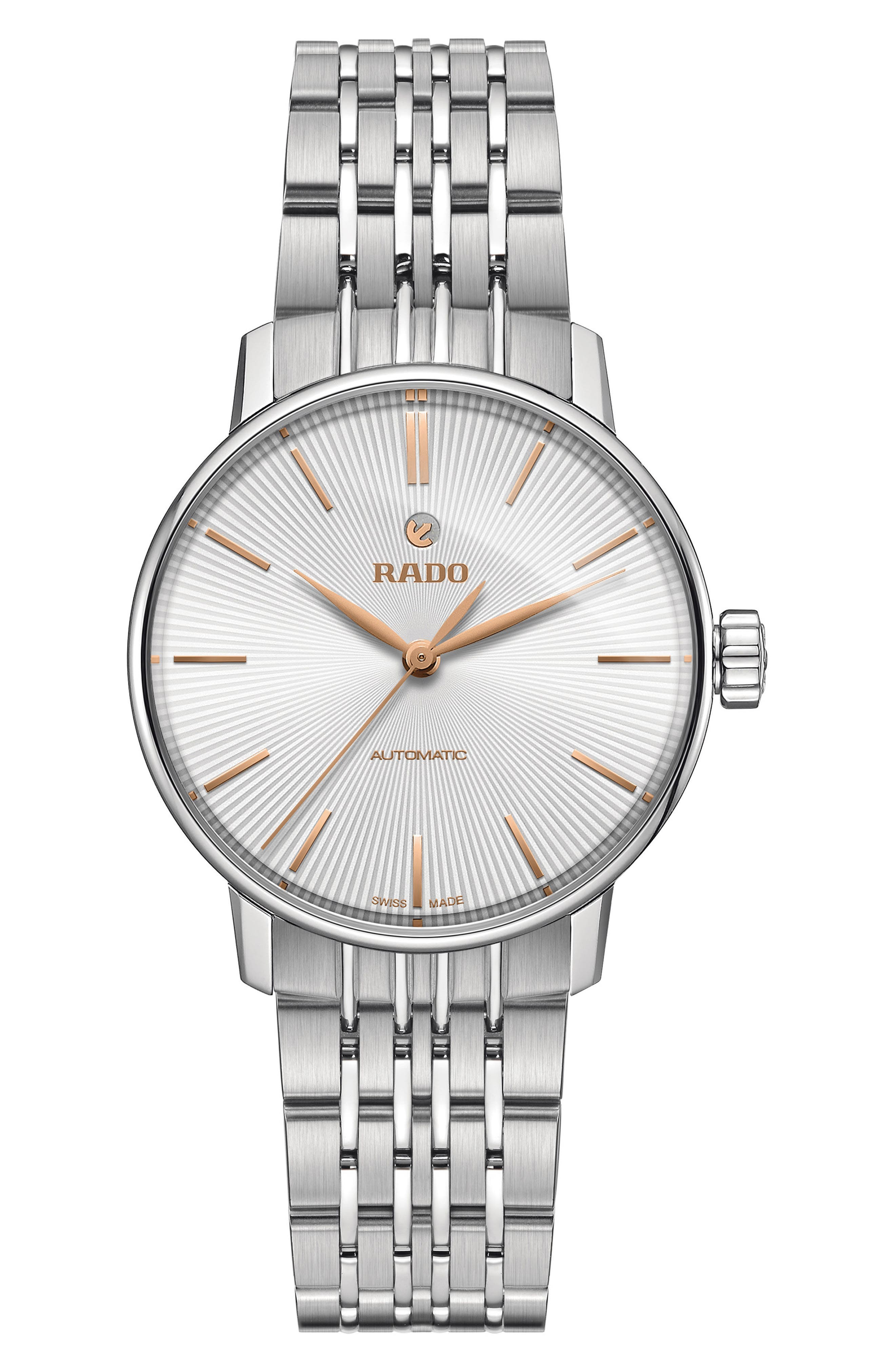 RADO Coupole Classic Automatic Bracelet Watch, 31Mm in Silver/ Gold