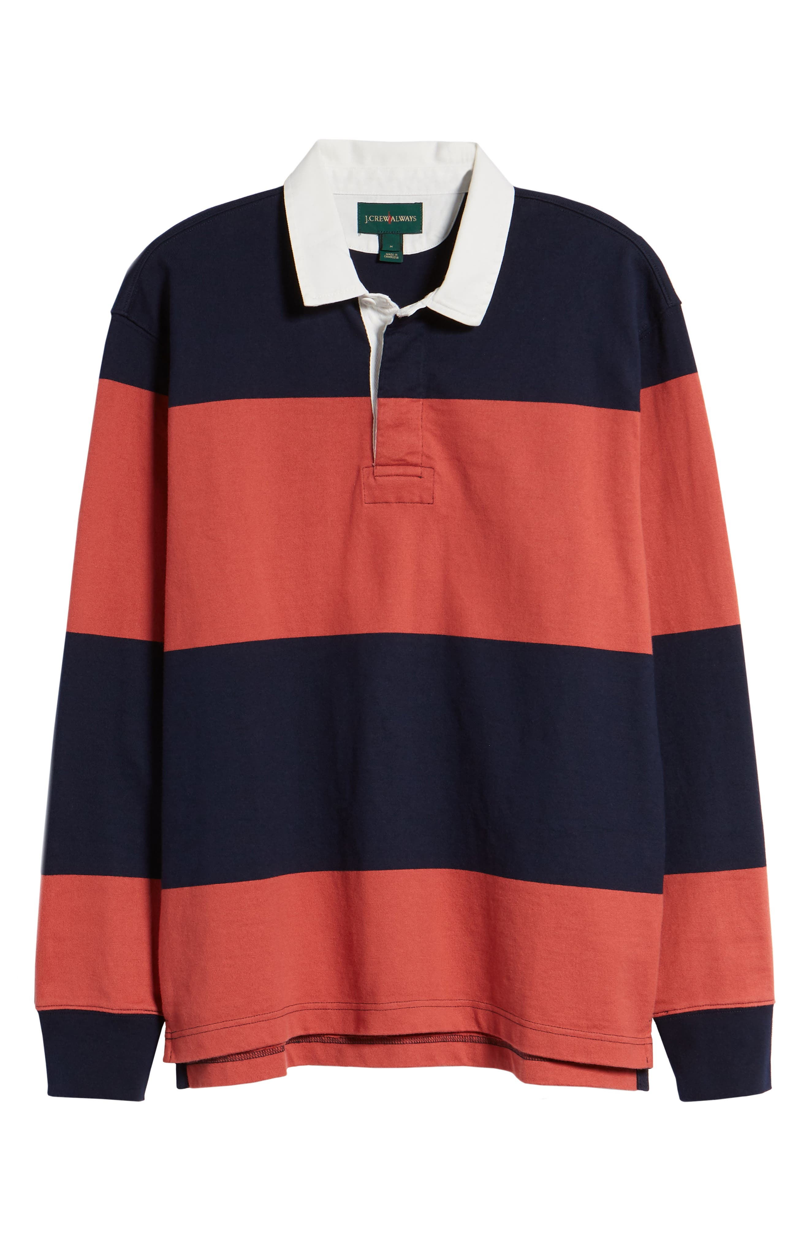 1984 Stripe Rugby Shirt,                             Alternate thumbnail 6, color,                             Old Red
