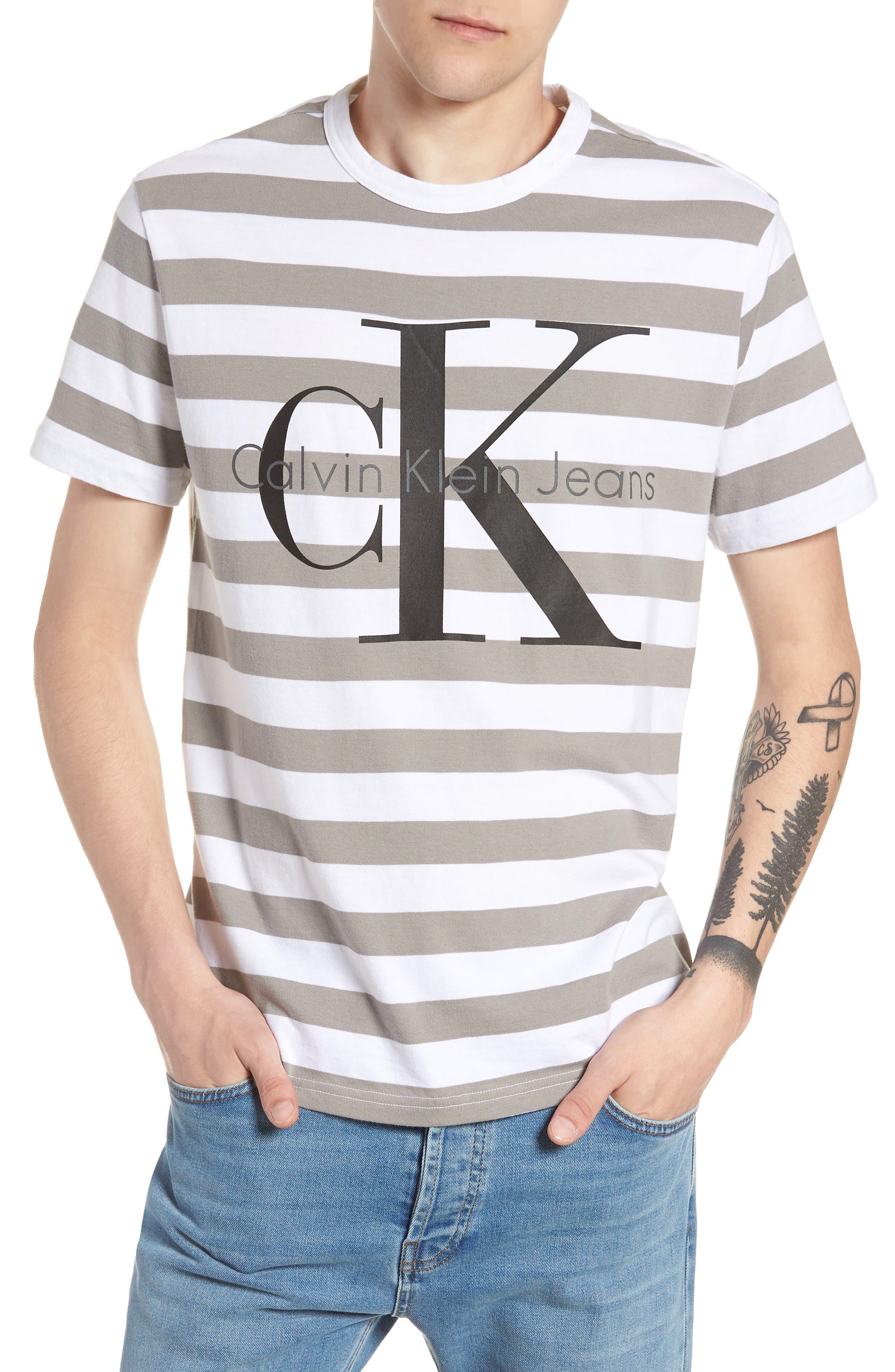 Stripe Reissue T-Shirt,                         Main,                         color, Standard White