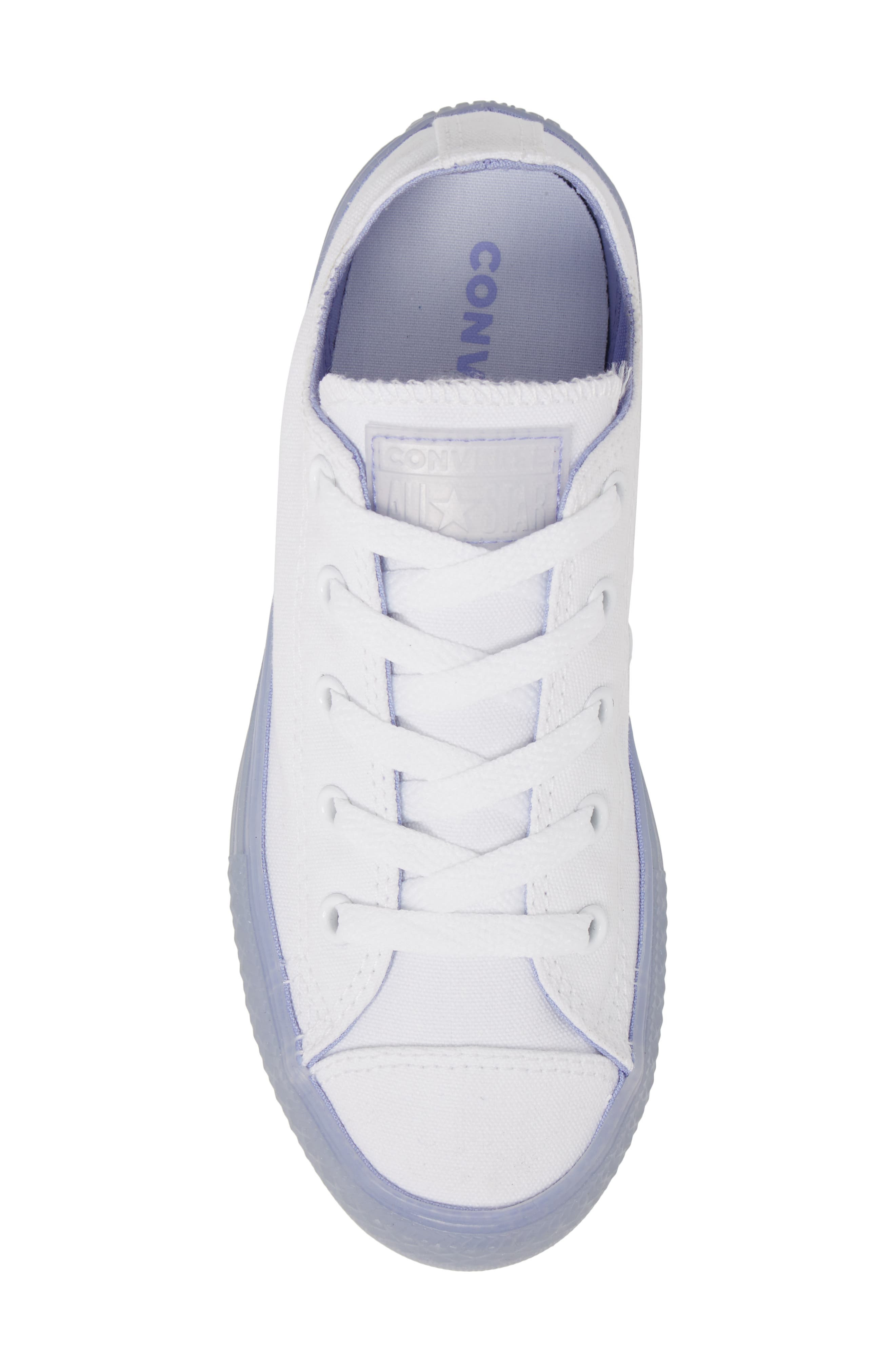 Chuck Taylor<sup>®</sup> All Star<sup>®</sup> Jelly Low Top Sneaker,                             Alternate thumbnail 5, color,                             Purple