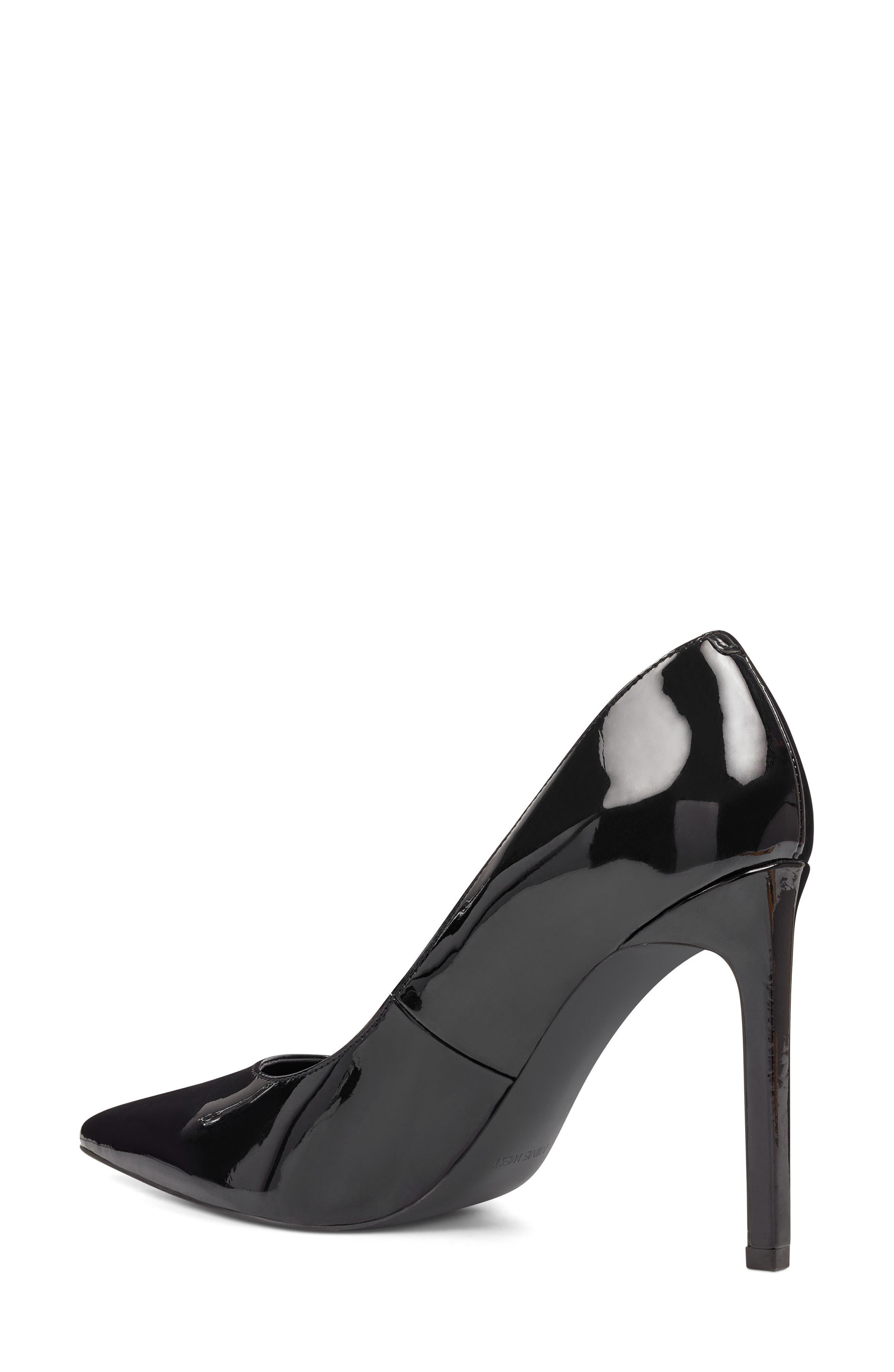 'Tatiana' Pointy Toe Pump,                             Alternate thumbnail 2, color,                             Black Sleek Patent