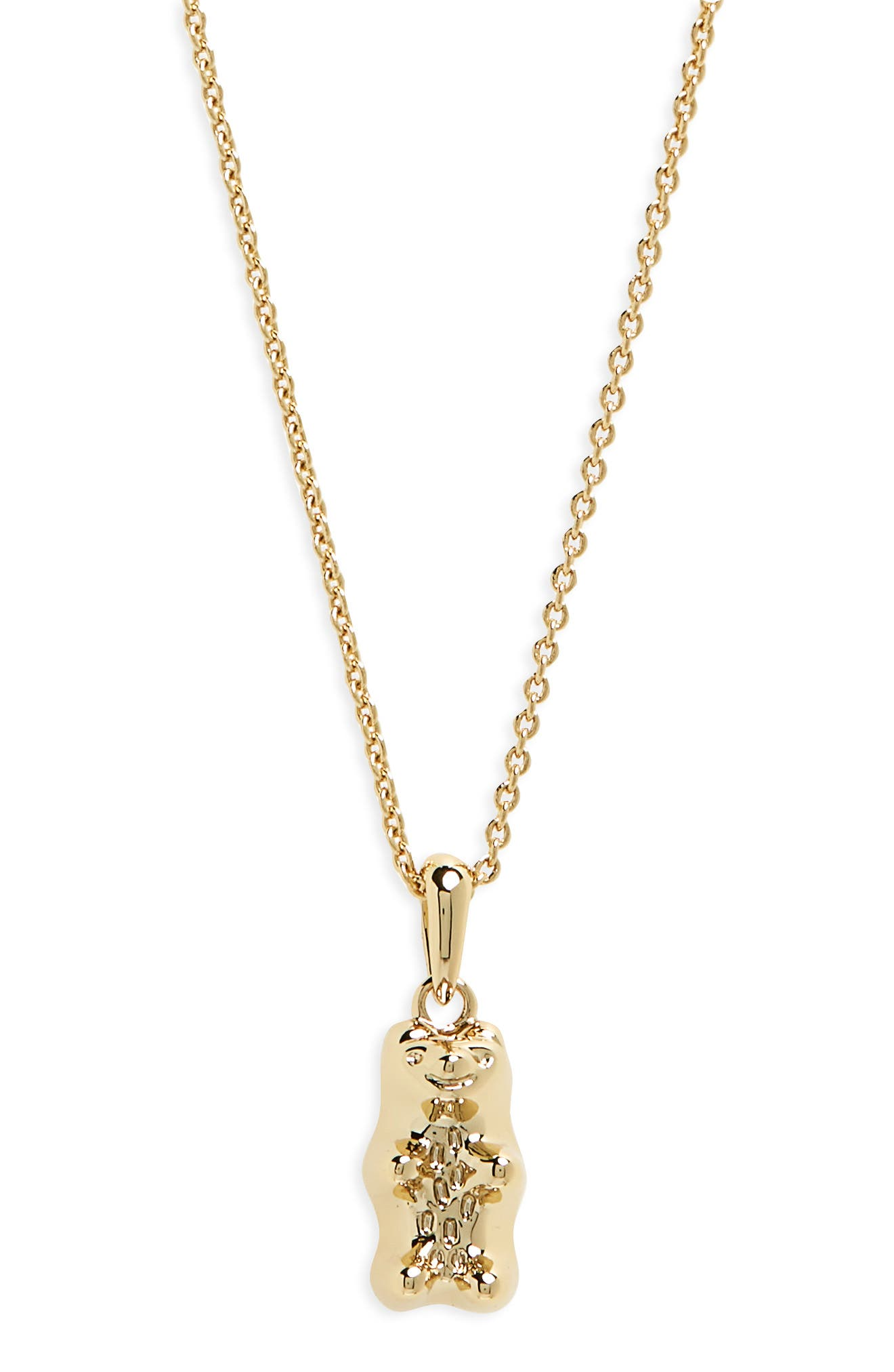 Gummy Bear Delicate Pendant Necklace,                             Main thumbnail 1, color,                             Rose Gold