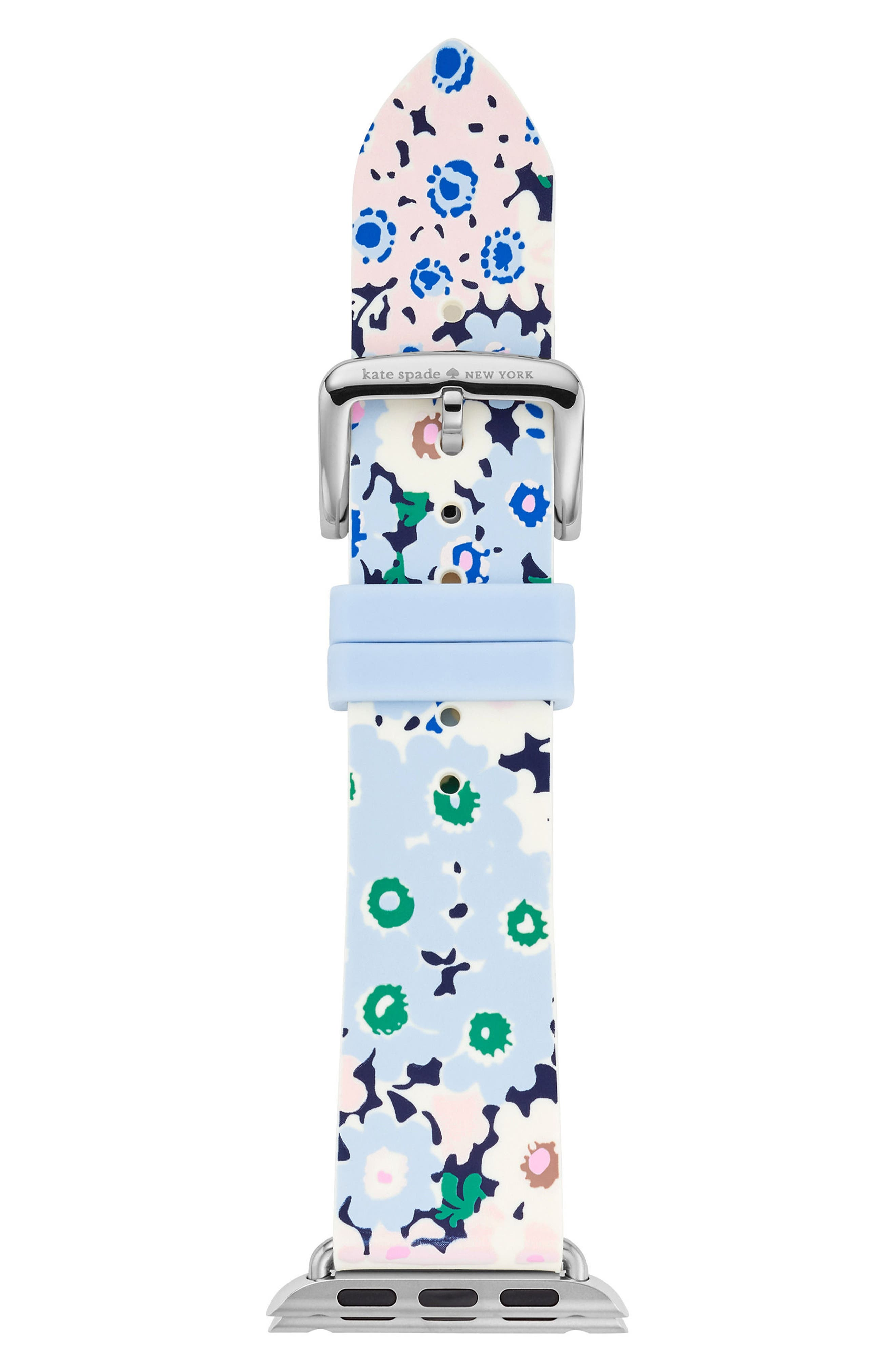 Apple<sup>®</sup> watch strap, 25mm,                             Main thumbnail 1, color,                             Blue/ Green/ Pink/ White