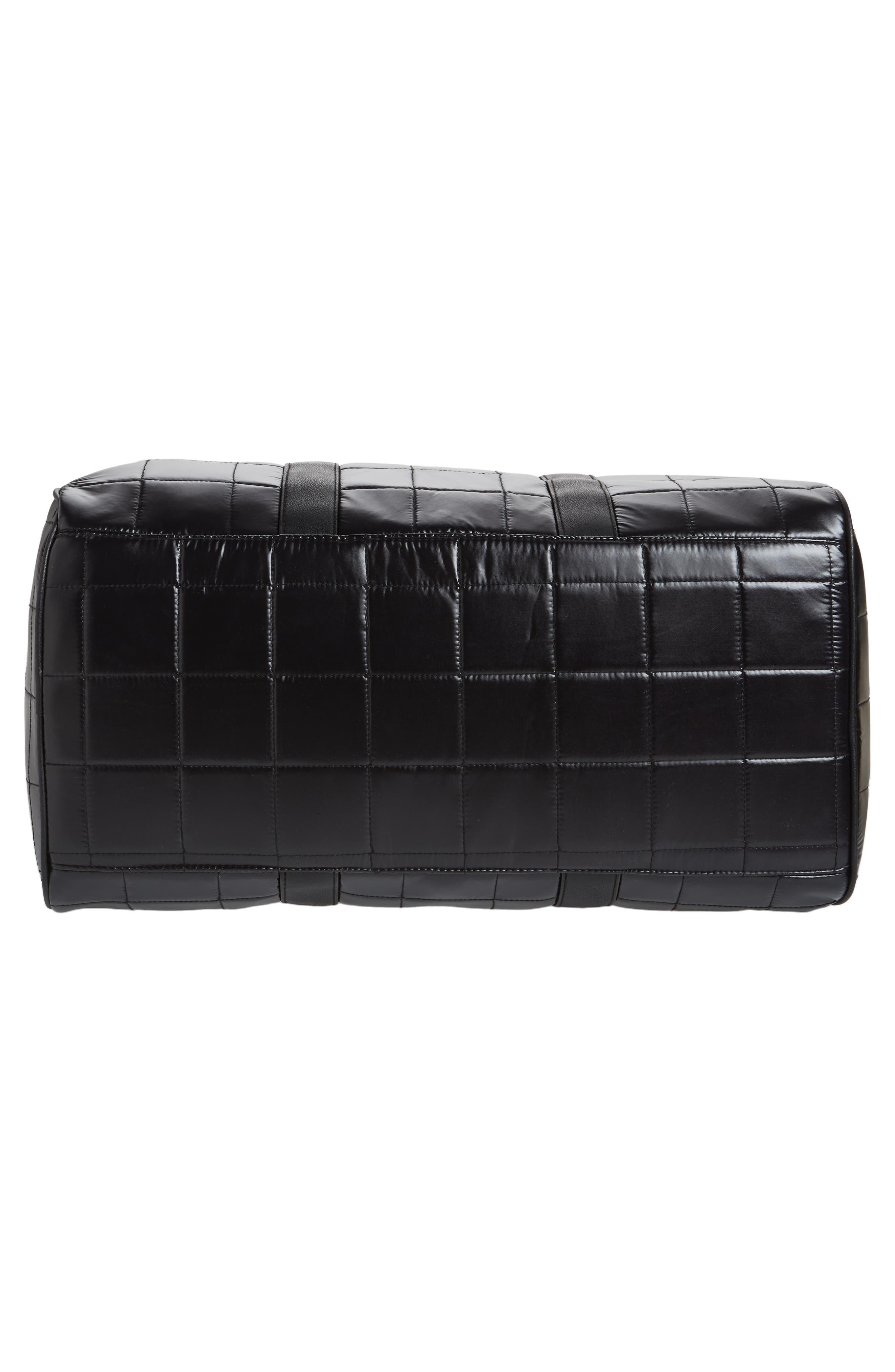 Puffer Duffel Bag,                             Alternate thumbnail 6, color,                             Black