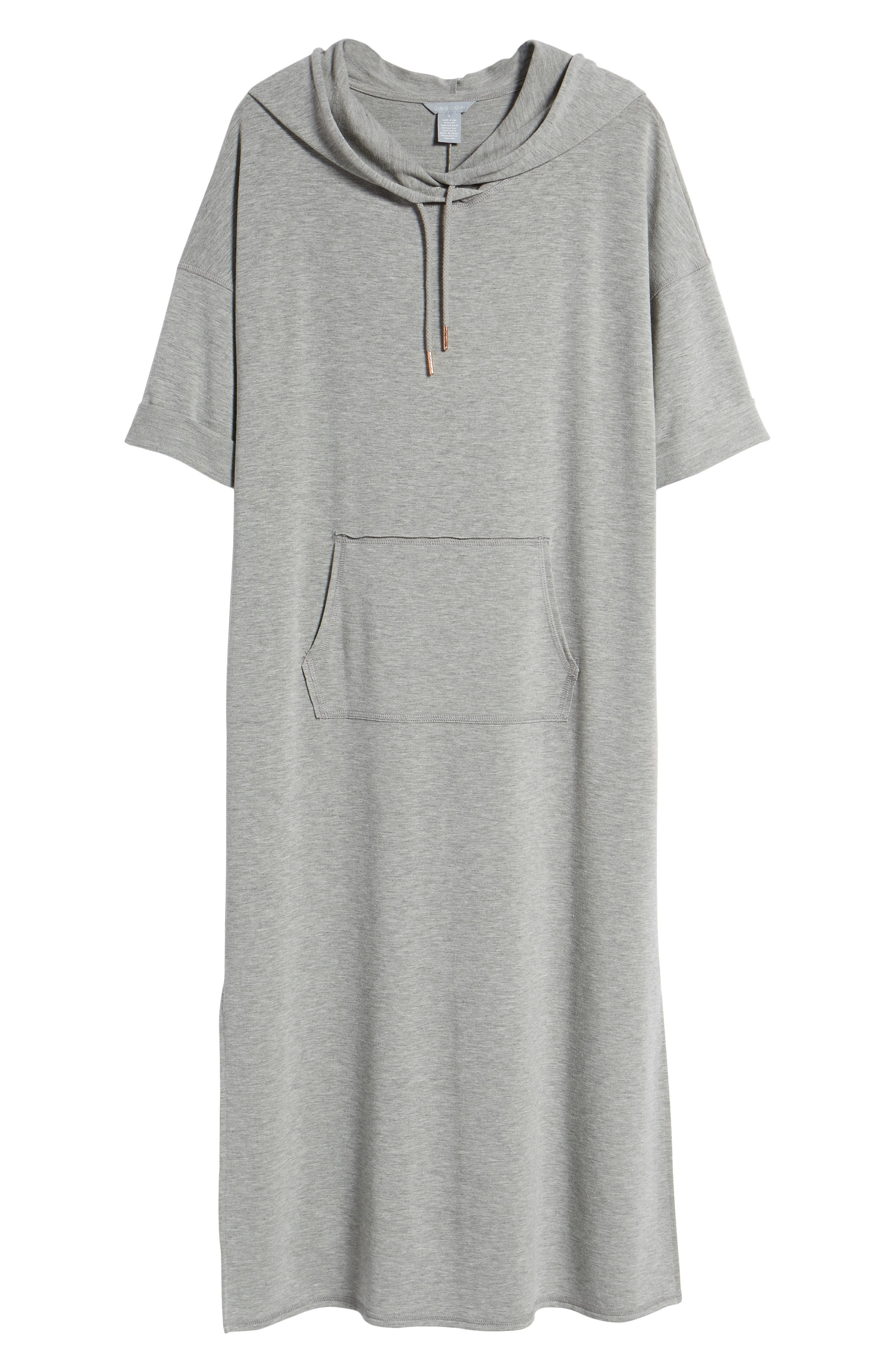 Off-Duty Knit Maxi Dress,                             Alternate thumbnail 7, color,                             Grey Heather