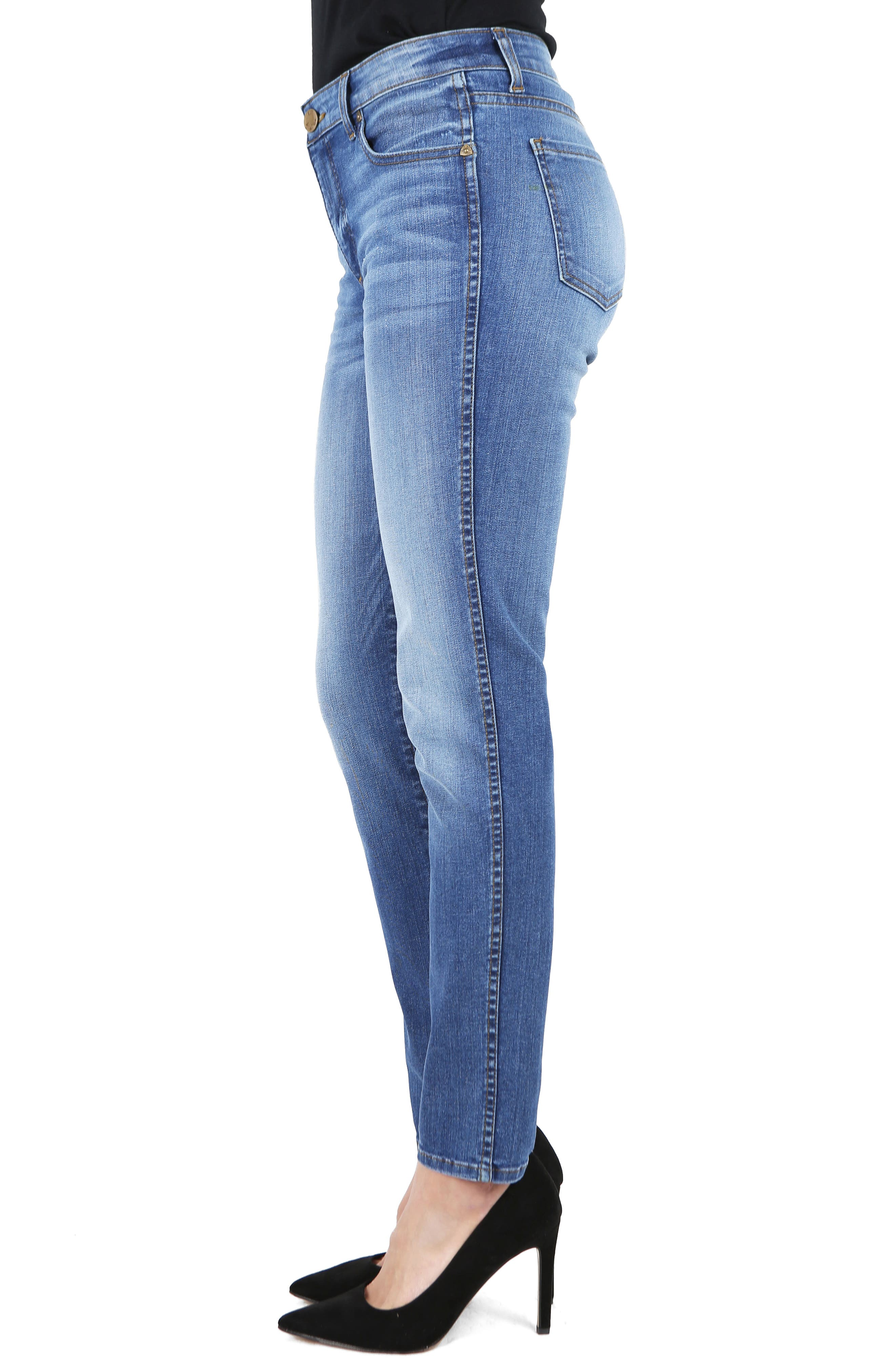 KUT from the Kloth Diana Fab Ab Fit Solution Skinny Jeans,                             Alternate thumbnail 3, color,                             Meditate
