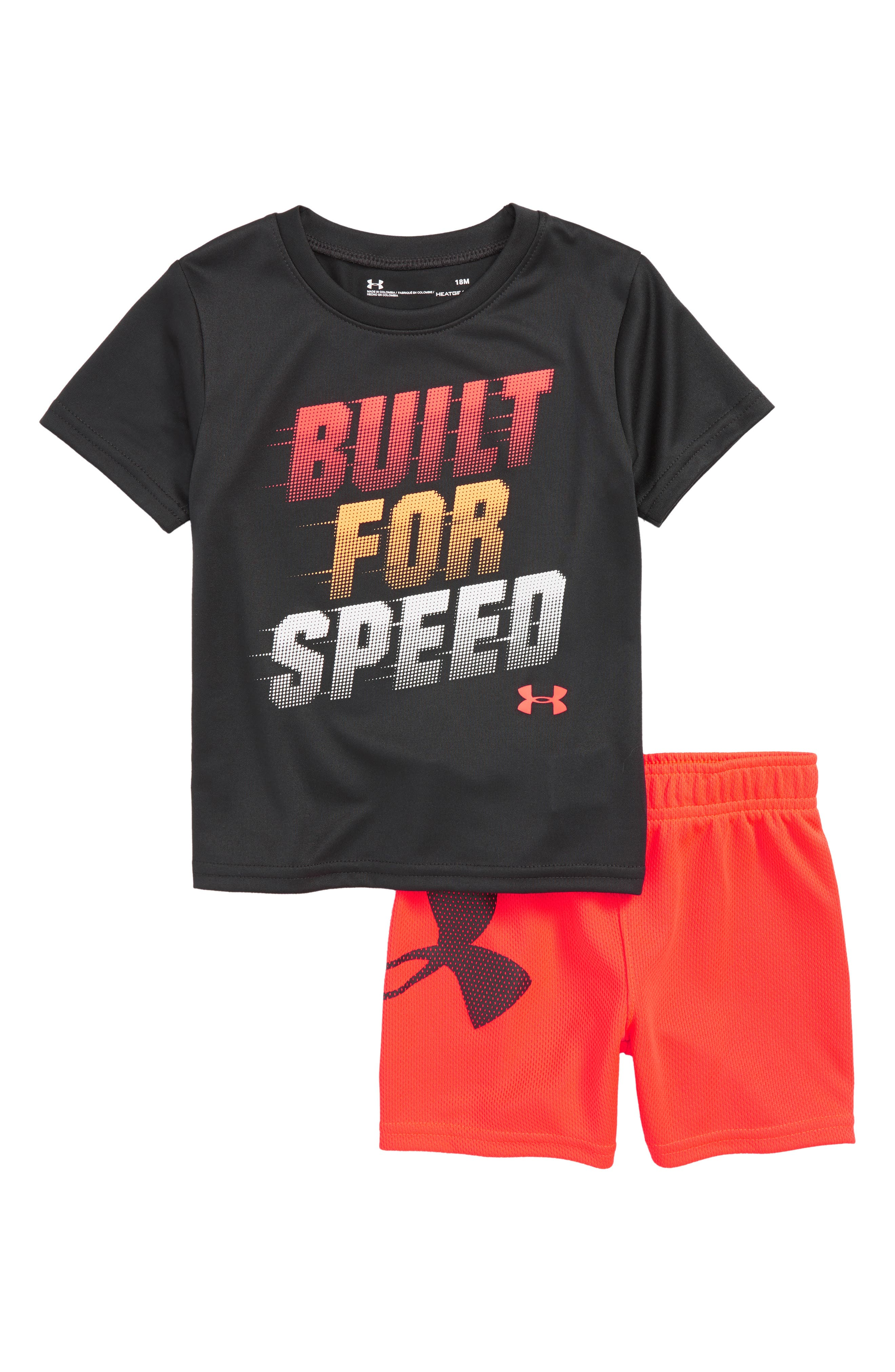 Built for Speed HeatGear<sup>®</sup> Shirt & Shorts Set,                             Main thumbnail 1, color,                             Anthracite