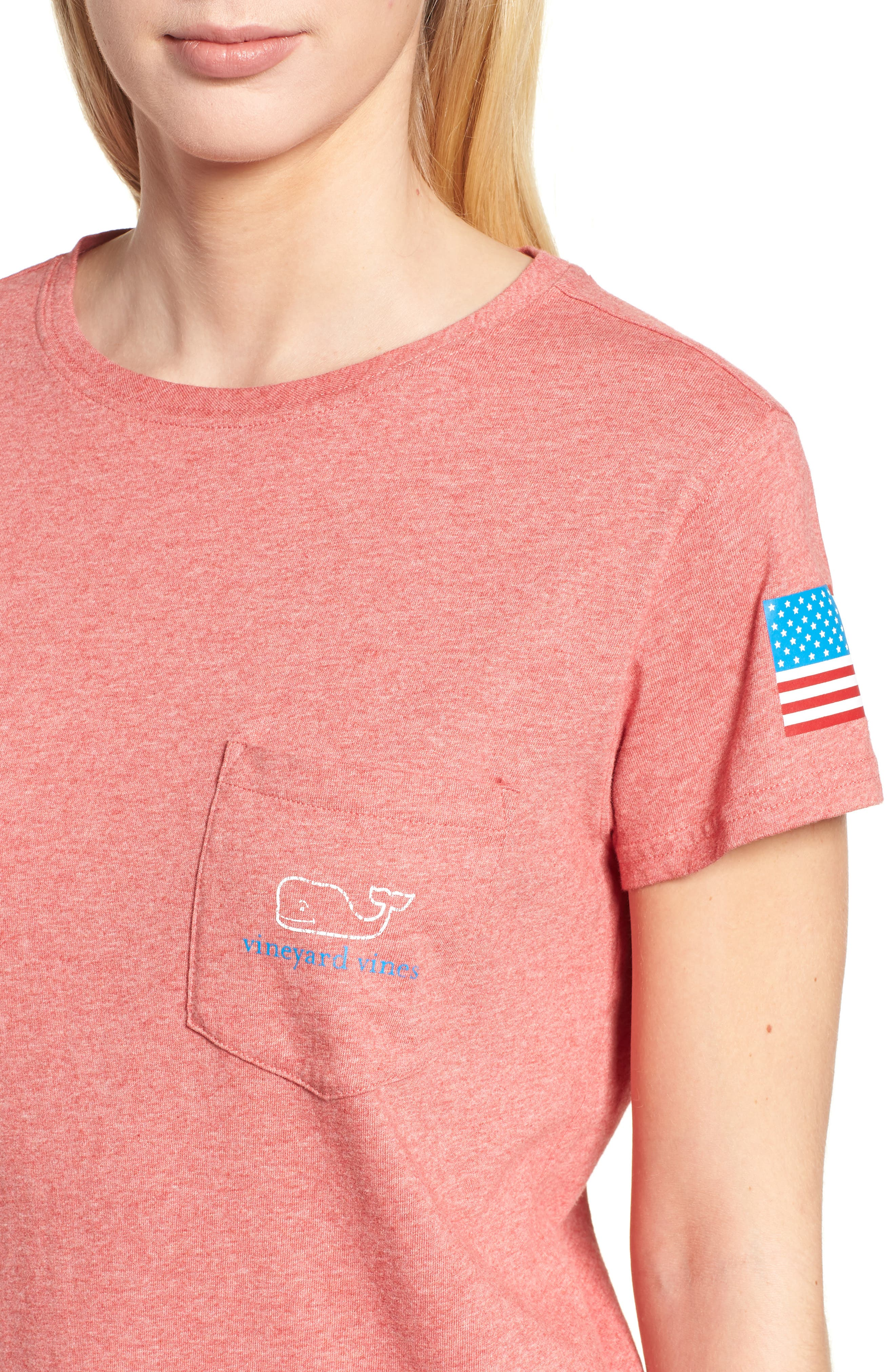 Vintage Whale Logo Tee,                             Alternate thumbnail 4, color,                             Jetty Red