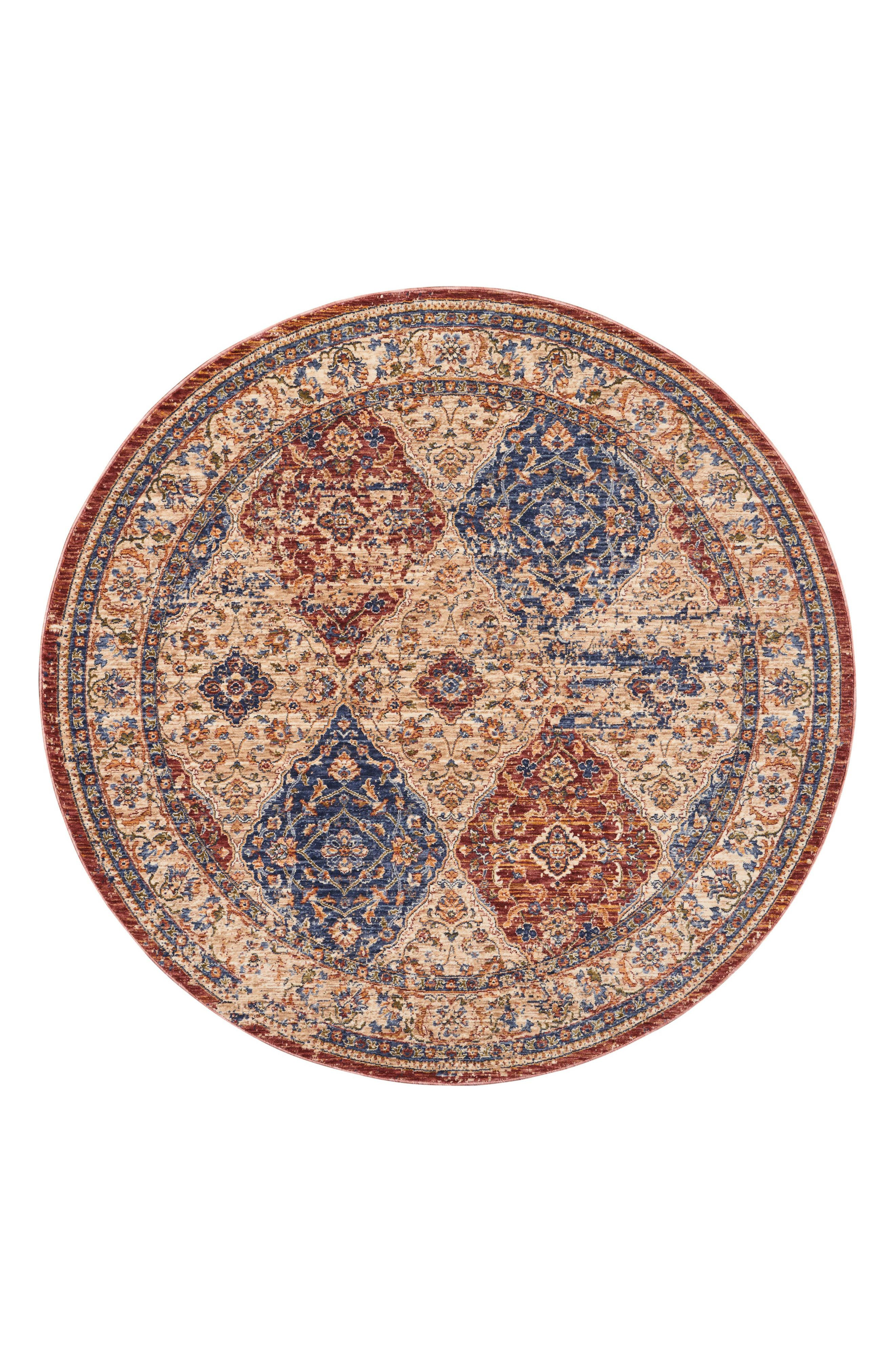 Vivid Ivory Round Area Rug,                             Main thumbnail 1, color,                             Multicolor