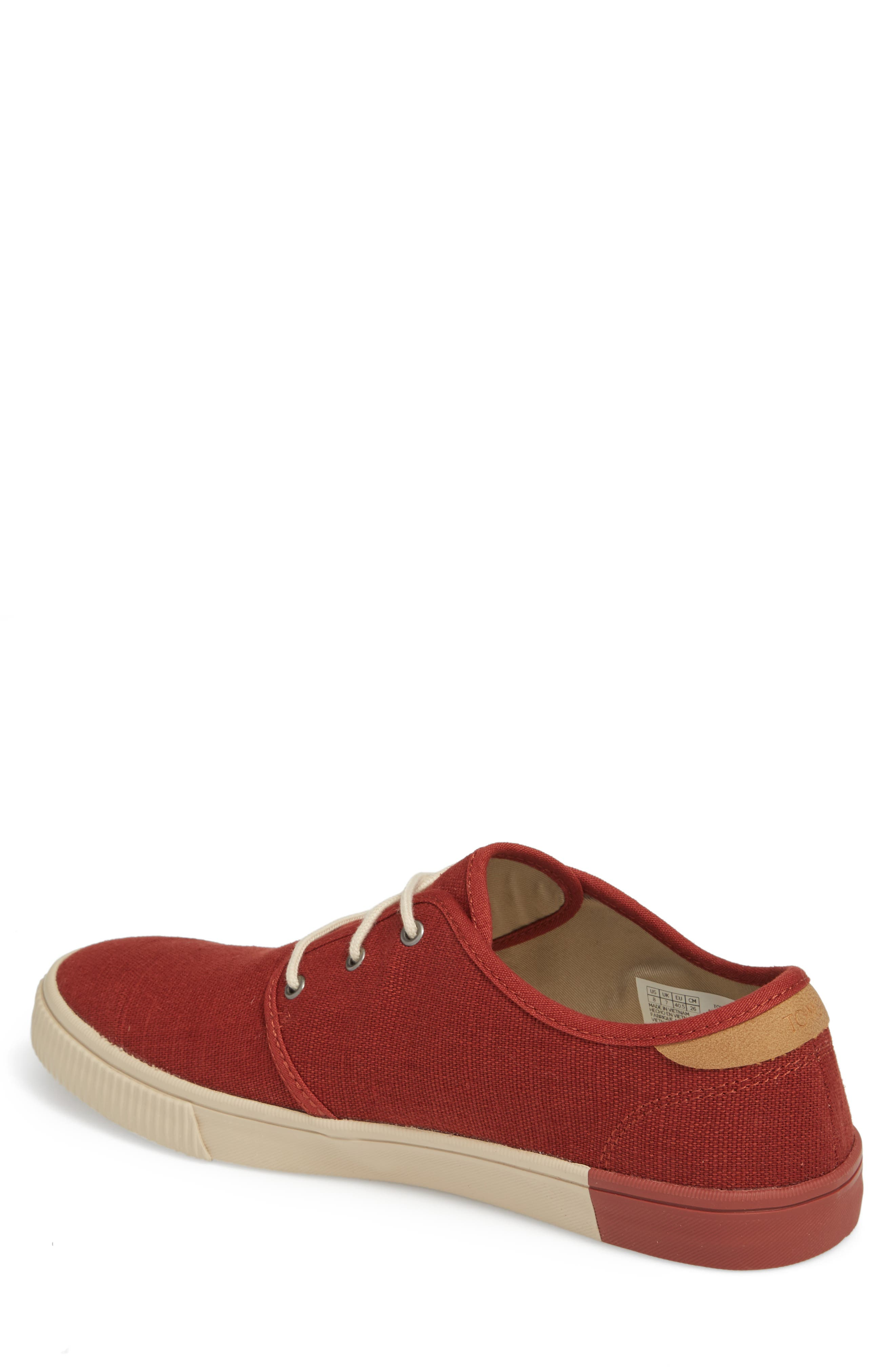 Carlo Low Top Sneaker,                             Alternate thumbnail 2, color,                             Burnt Henna Heritage Canvas