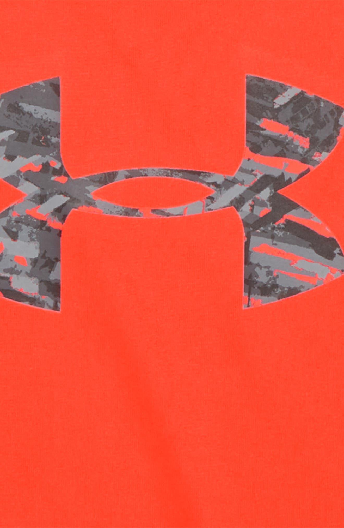 Vertigo Logo HeatGear<sup>®</sup> Shirt,                             Alternate thumbnail 2, color,                             Neon Coral