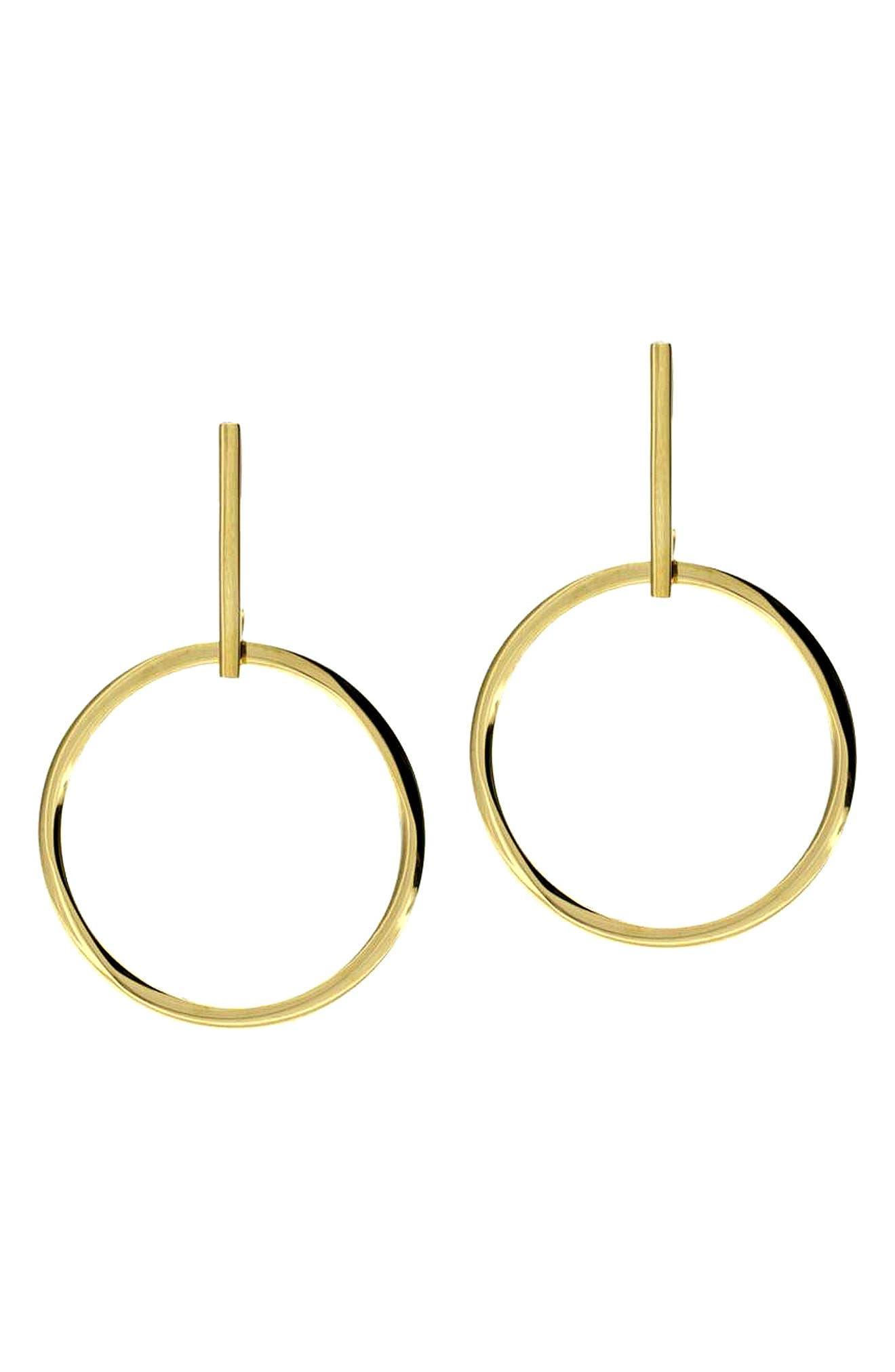 Joplin Hoop Earrings,                         Main,                         color, Gold