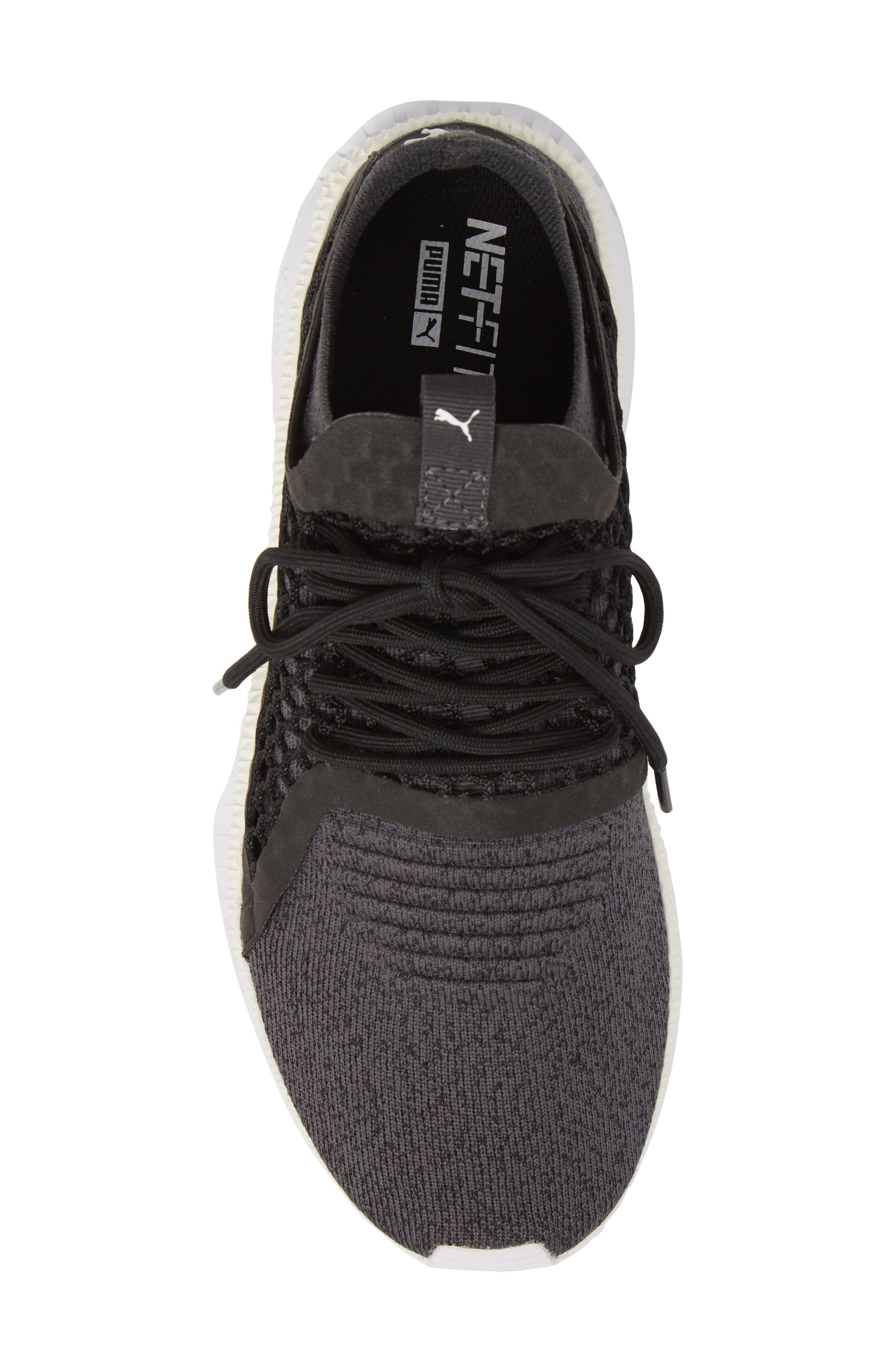 Tsugi Netfit V2 EvoKNIT Sneaker,                             Alternate thumbnail 3, color,                             Black/ Asphalt/ White