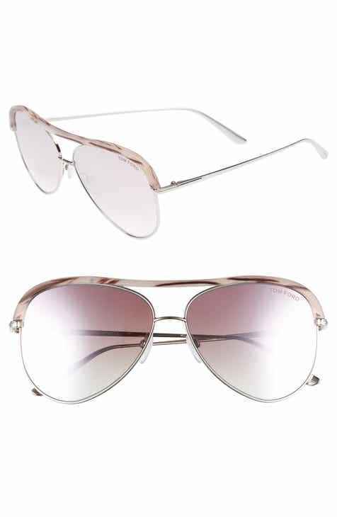 d4c84563df182 Tom Ford Sabine 60mm Aviator Sunglasses