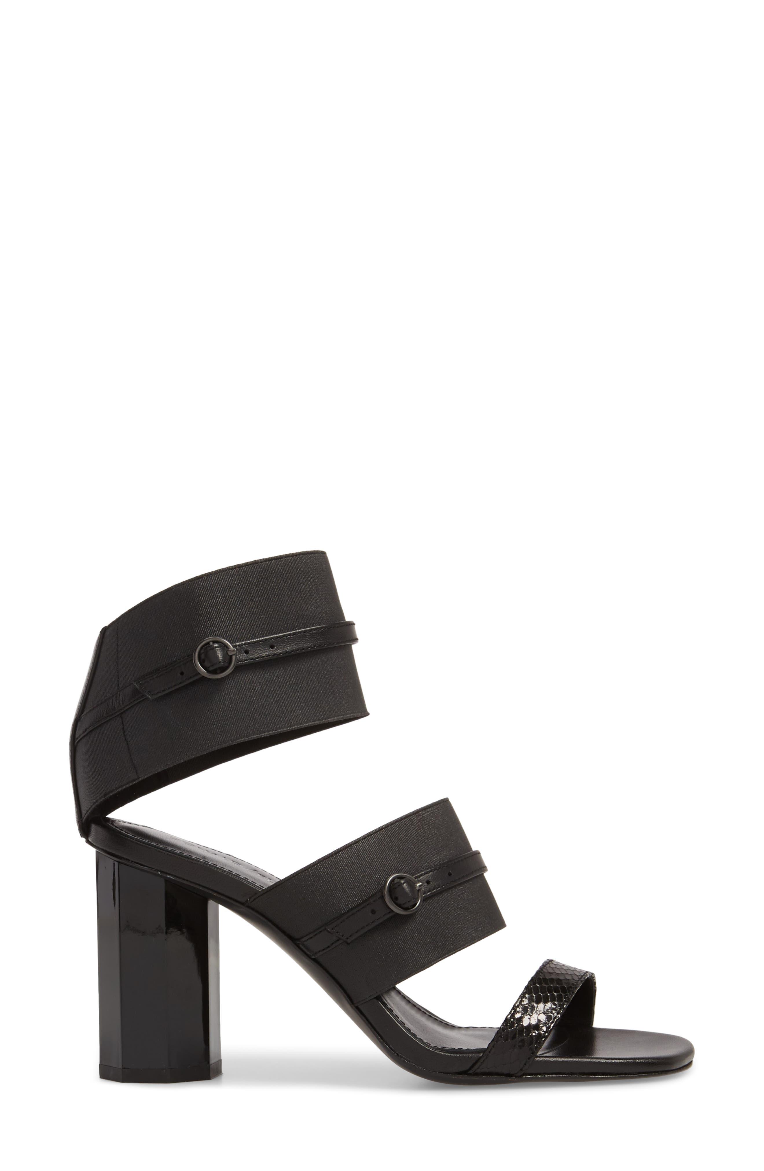 Edie Sandal,                             Alternate thumbnail 4, color,                             Black Leather