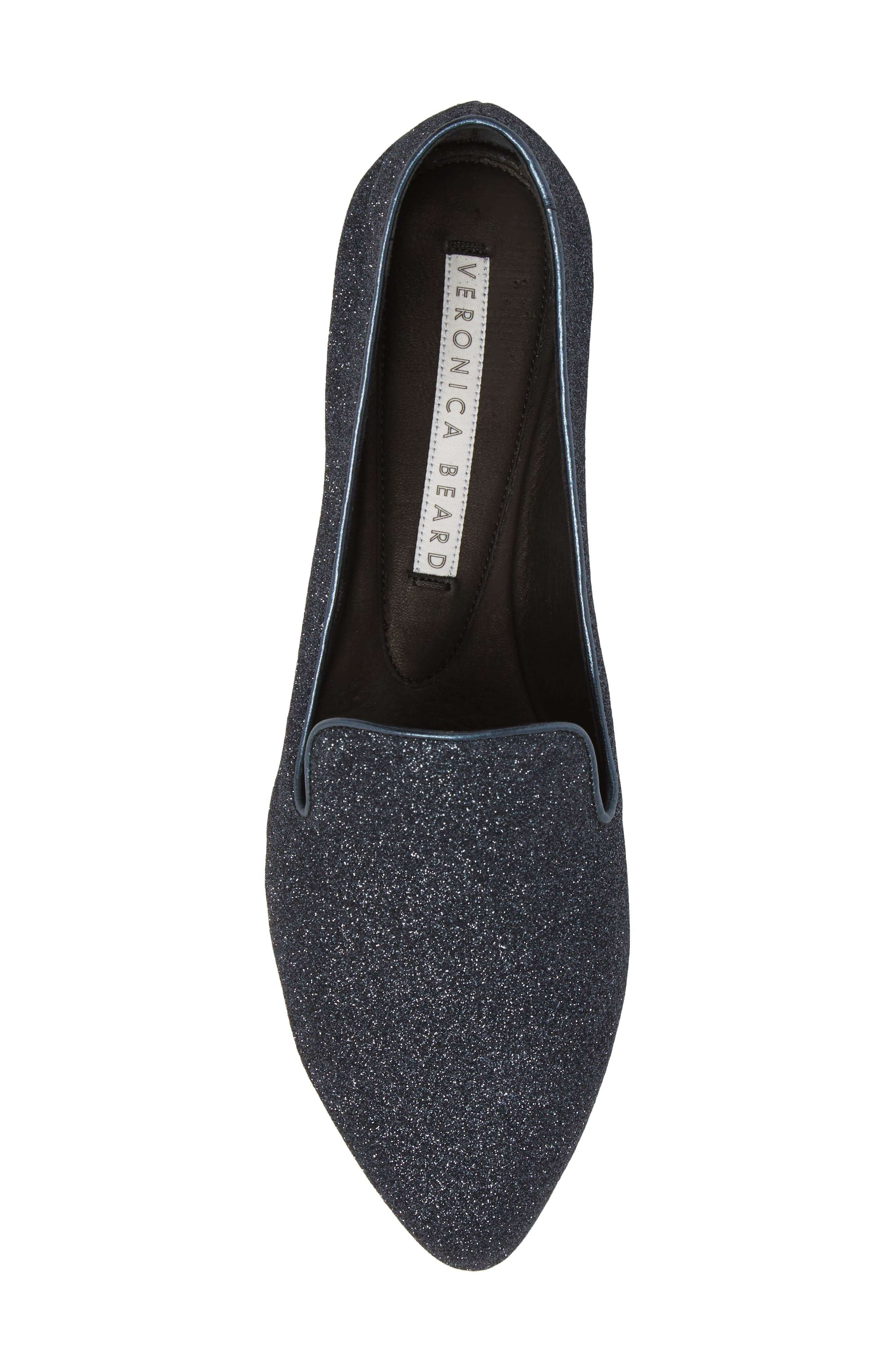 Griffin Pointy Toe Loafer,                             Alternate thumbnail 3, color,                             Midnight
