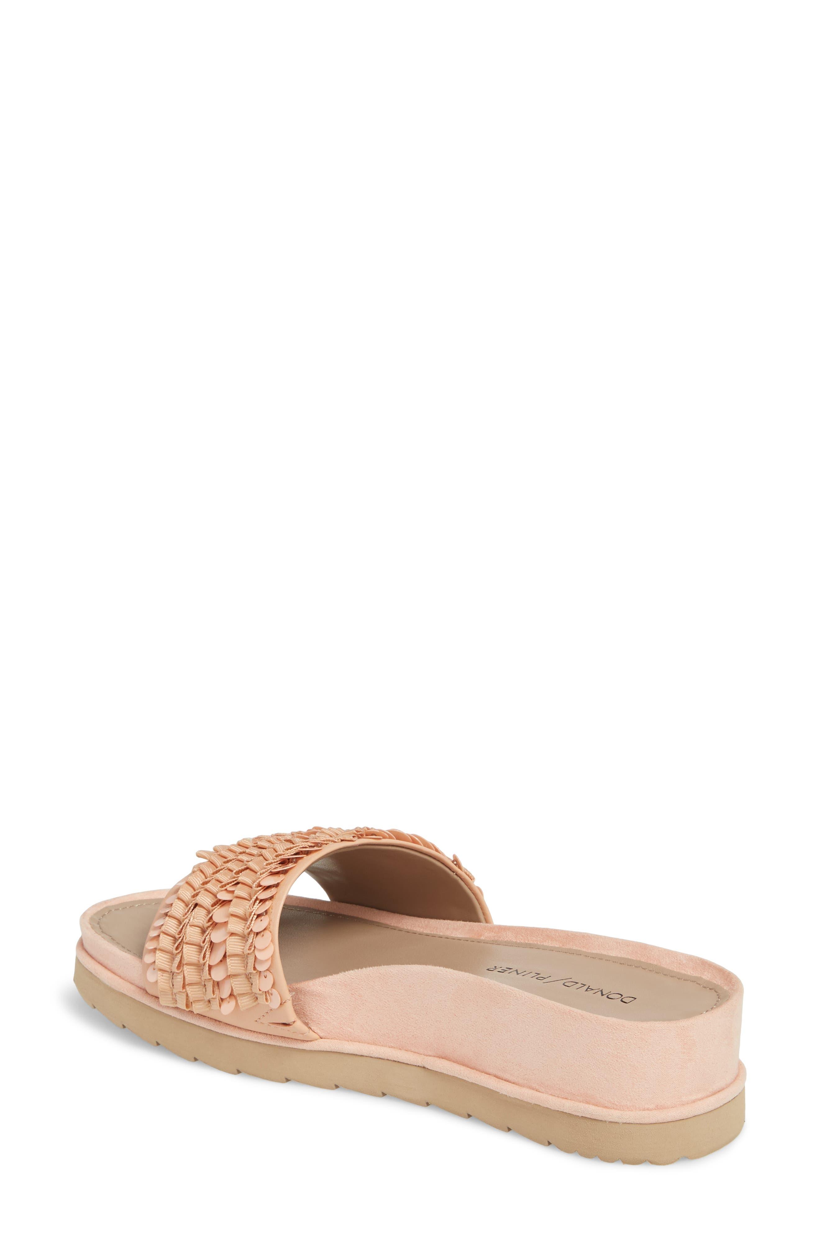 Cava Slide Sandal,                             Alternate thumbnail 2, color,                             Peony Leather
