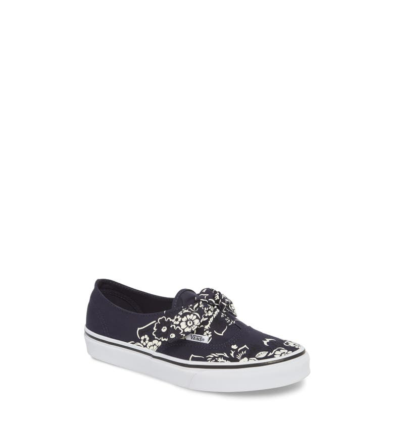 Vans Ua Authentic Knotted Floral Bandana Slip-On Sneaker In Parisian Night   True White 358625af3c520