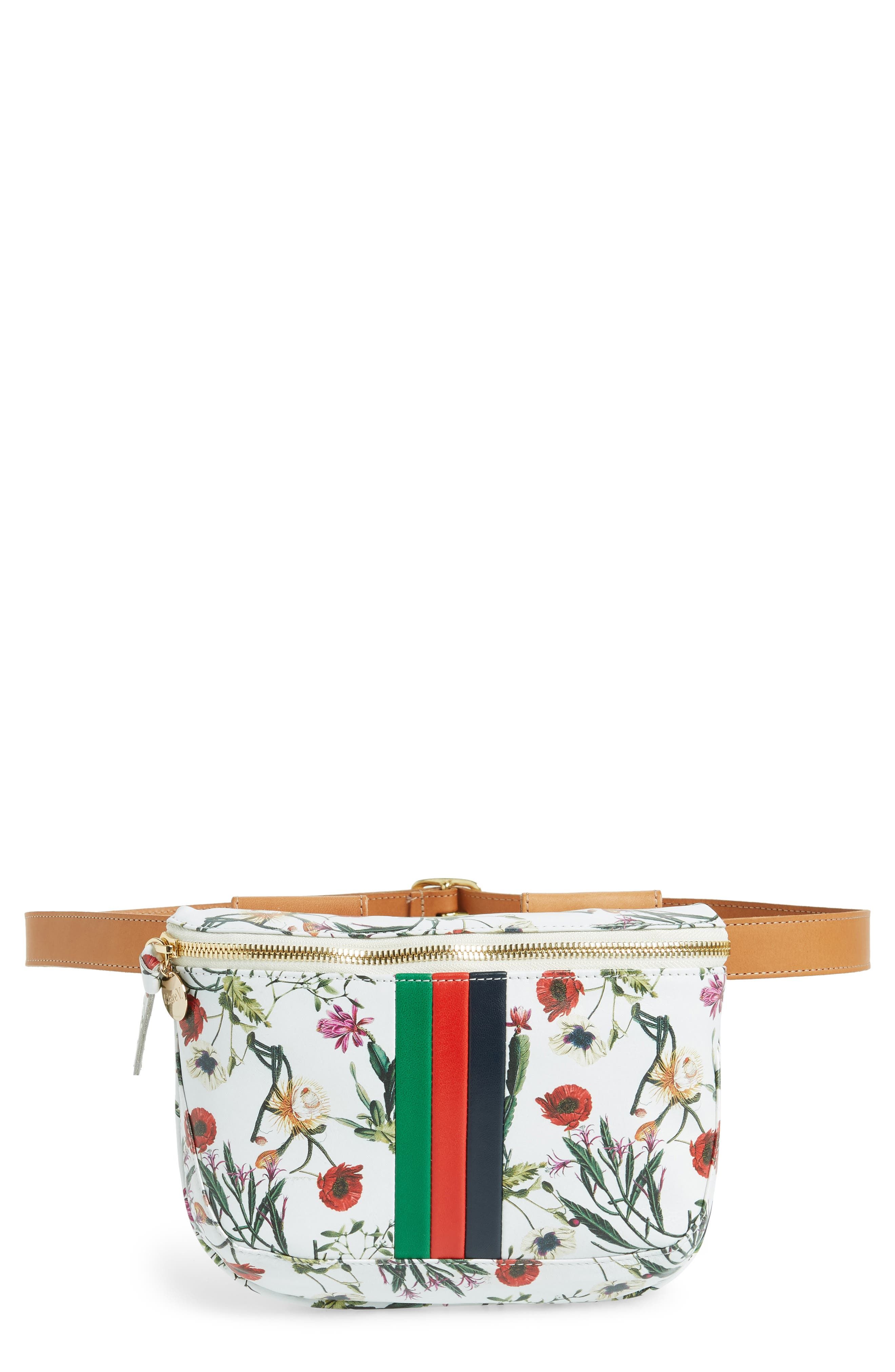 FLORAL LEATHER SUPREME FANNY PACK - WHITE
