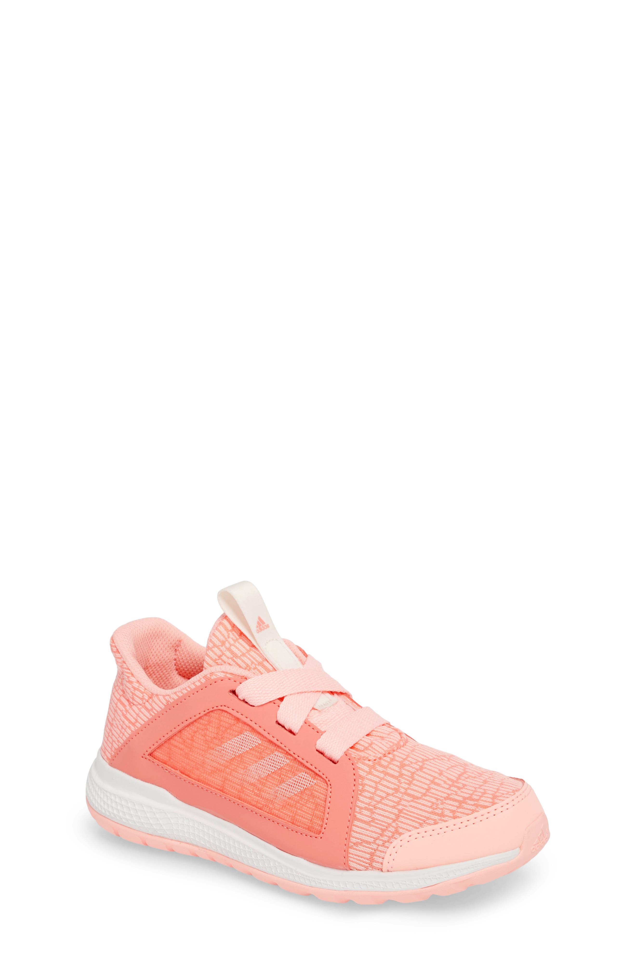 Edge Lux Running Shoe,                             Main thumbnail 1, color,                             Chalk Coral/ White/ Orange